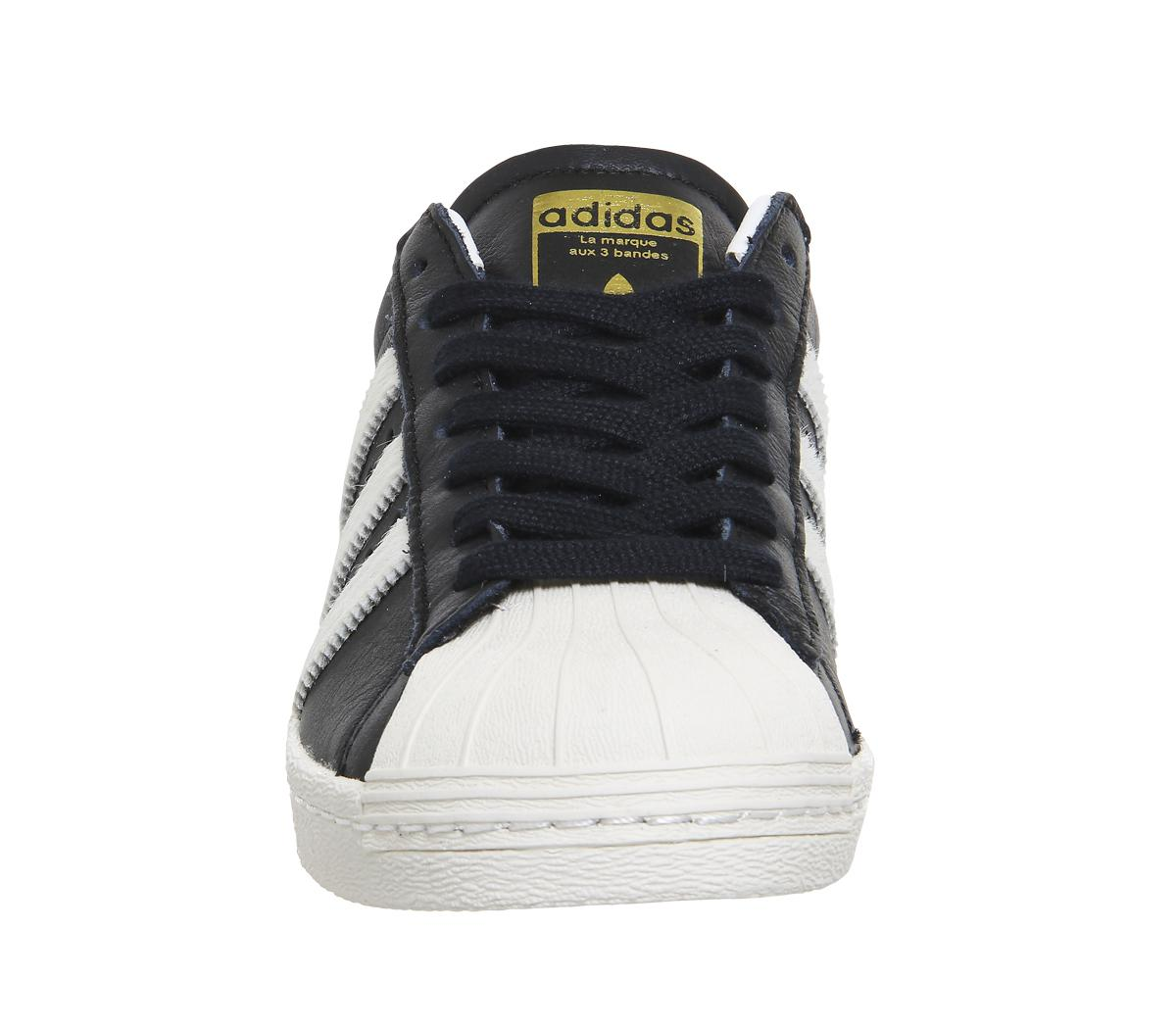 adidas Leather Superstar 80s in Black
