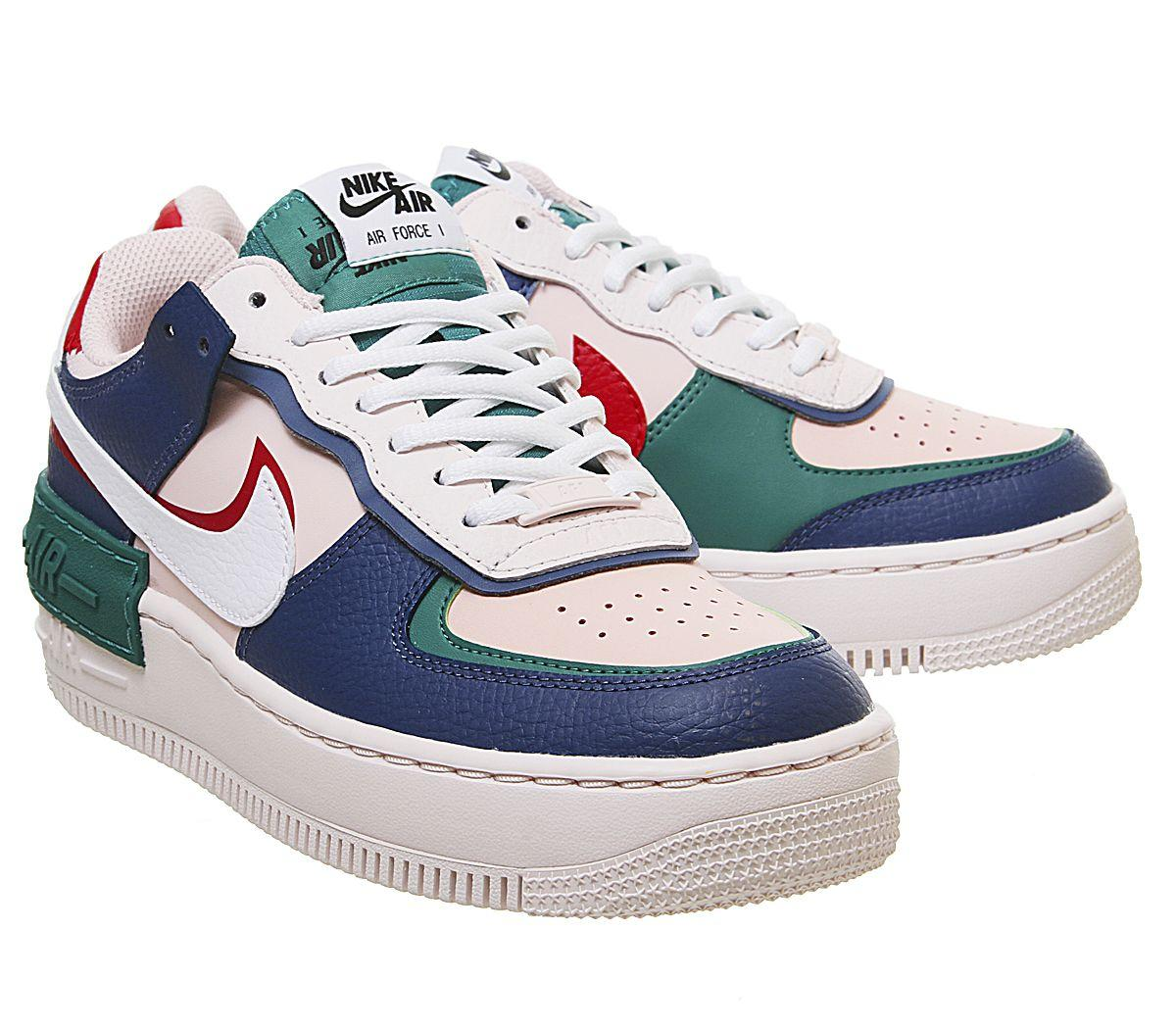 Nike Leather Air Force 1 Shadow In Navy Pink Blue Lyst The nike air force 1 shadow has arrived in another new color. air force 1 shadow