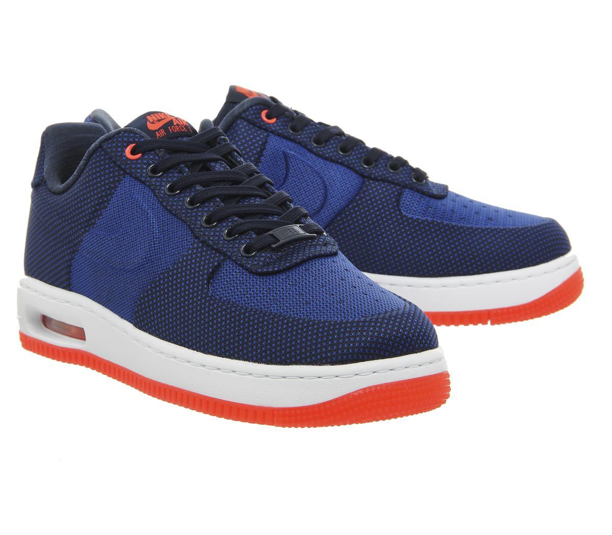 acheter en ligne 709b7 0f1e5 Nike Blue Air Force 1 Elite for men