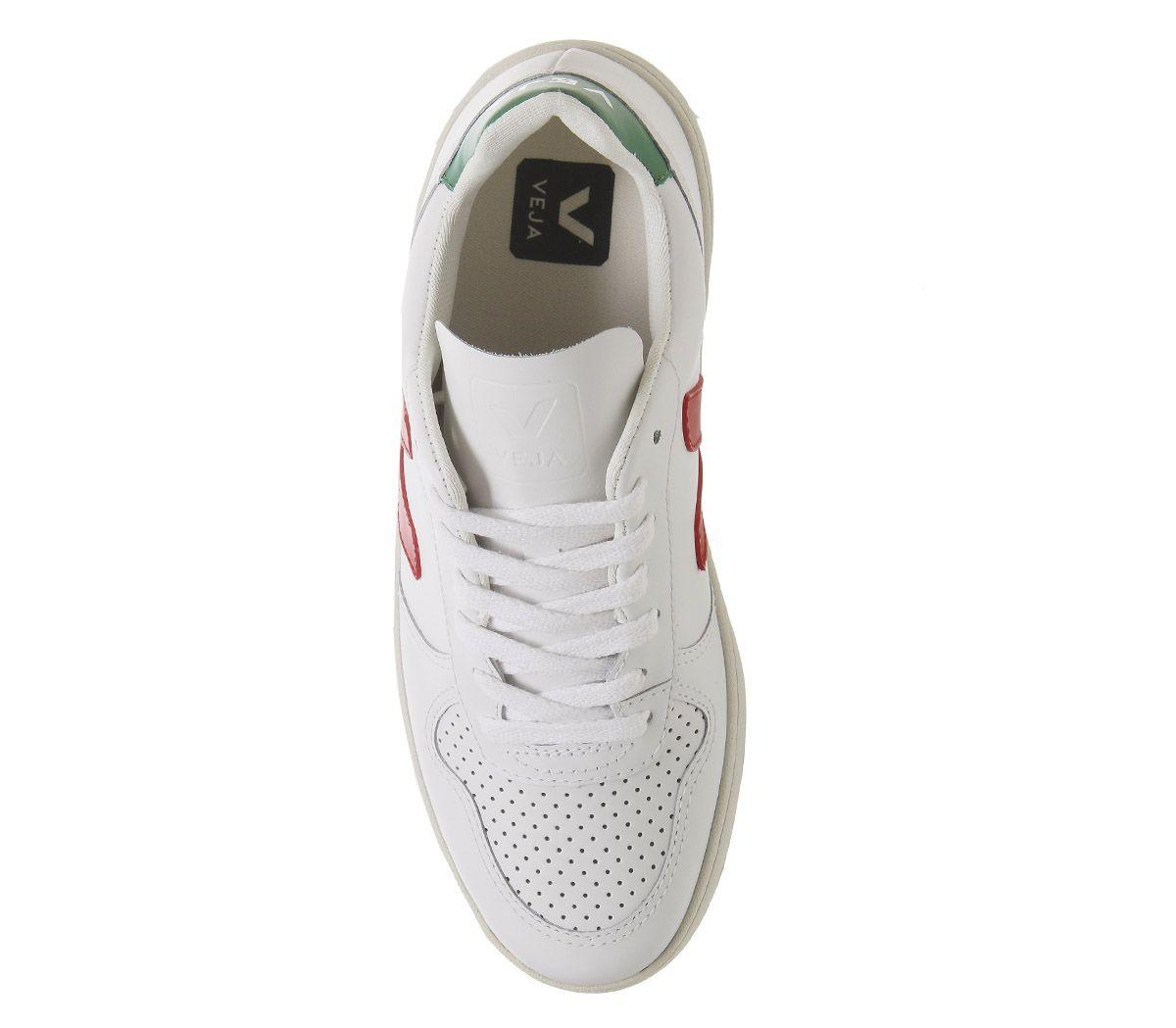 Veja Leather V-10 Trainers in White