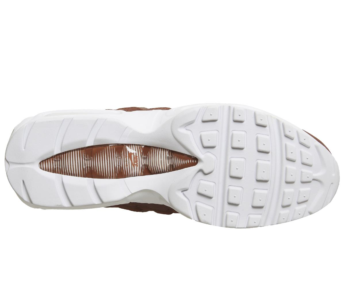 Nike Synthetic Air Max 95 Trainers in Brown for Men
