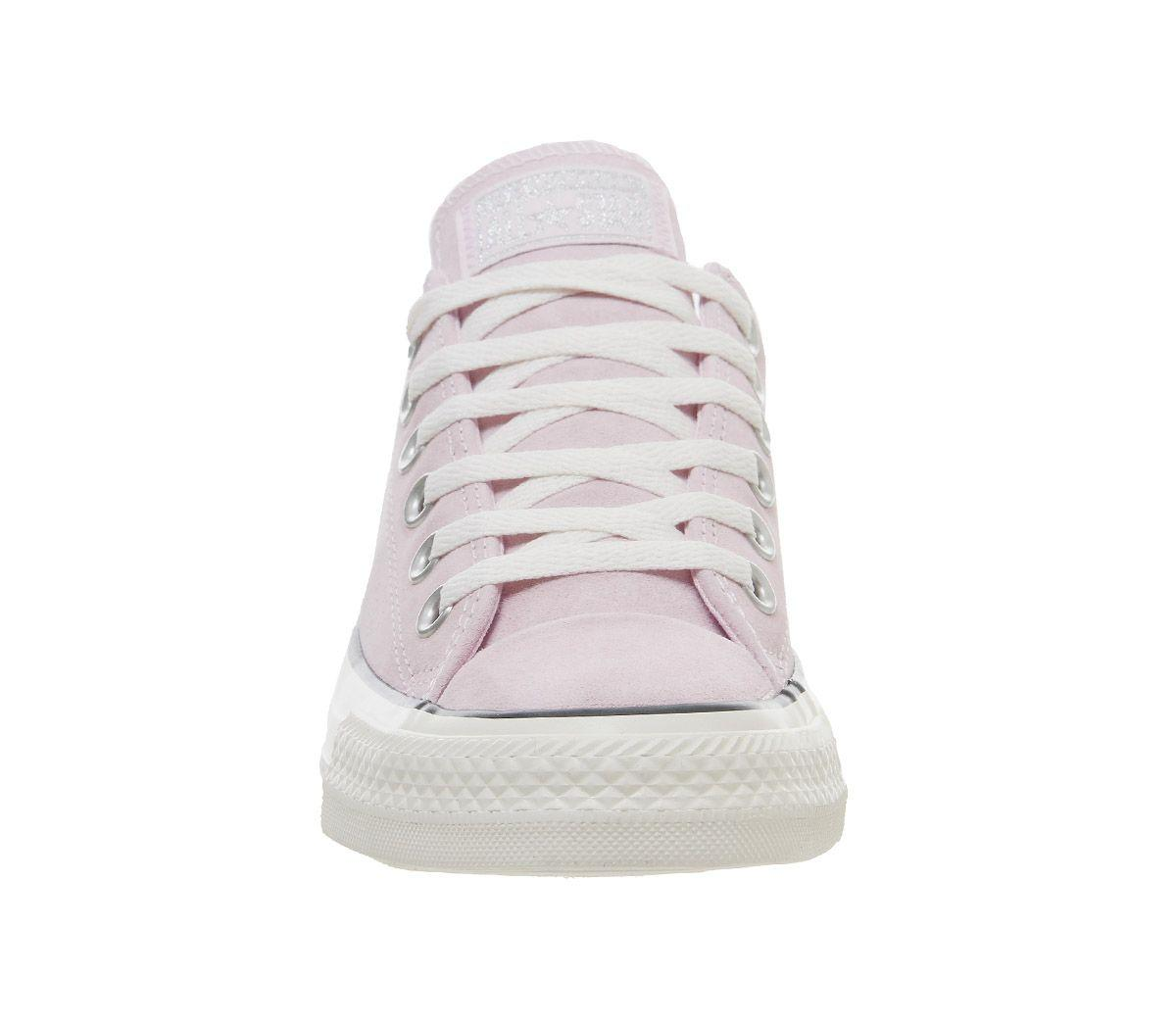 3f70e6b3856cf7 Converse - Pink Allstar Low Leather Trainers - Lyst. View fullscreen
