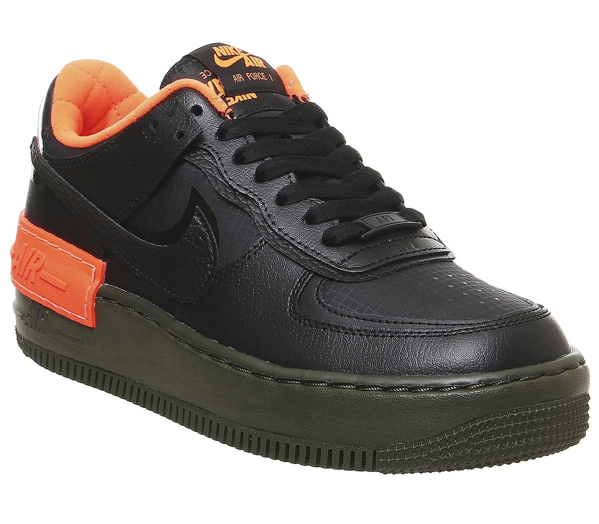 Air Force 1 Shadow Trainers in Black