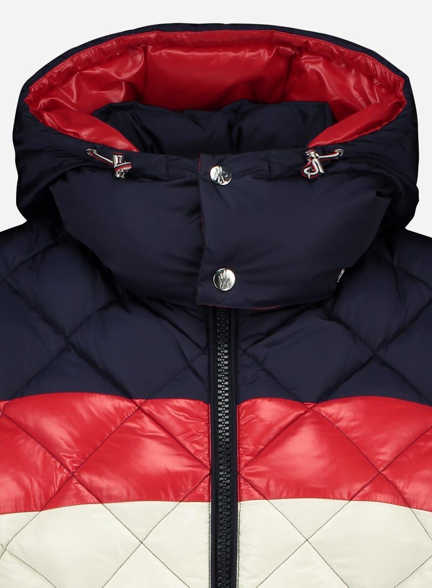 Moncler Synthetisch Gewatteerd Slim-fit 'janvry' Jacket in het Blauw voor heren