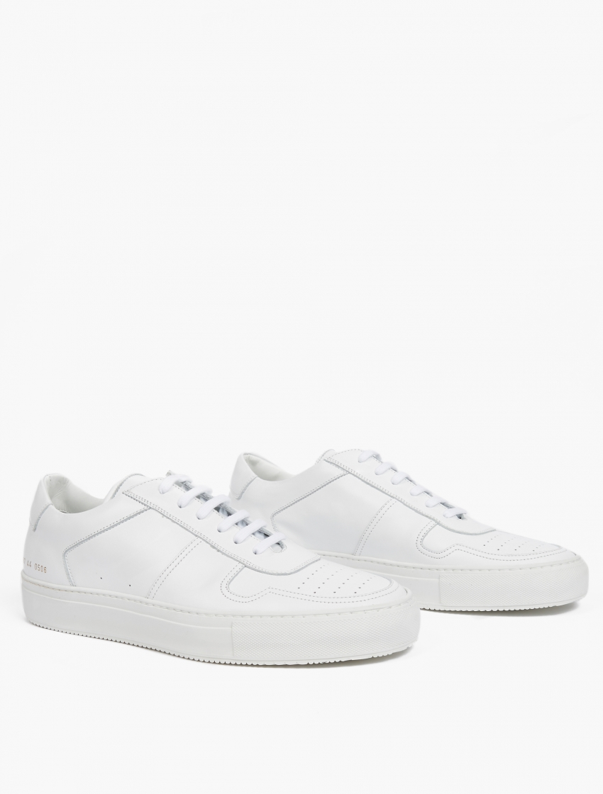 common projects leather basketball sneakers in white for men lyst. Black Bedroom Furniture Sets. Home Design Ideas