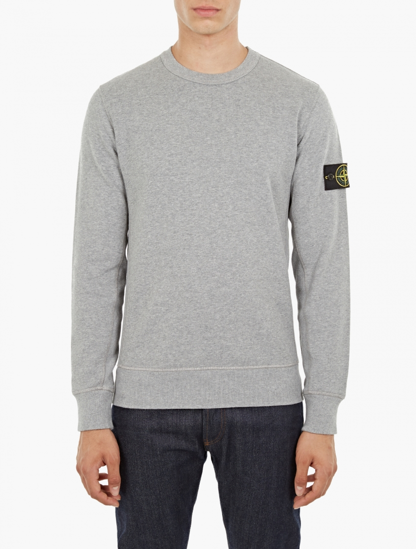 stone island pullover hoodie sweatshirt in metallic for men lyst. Black Bedroom Furniture Sets. Home Design Ideas