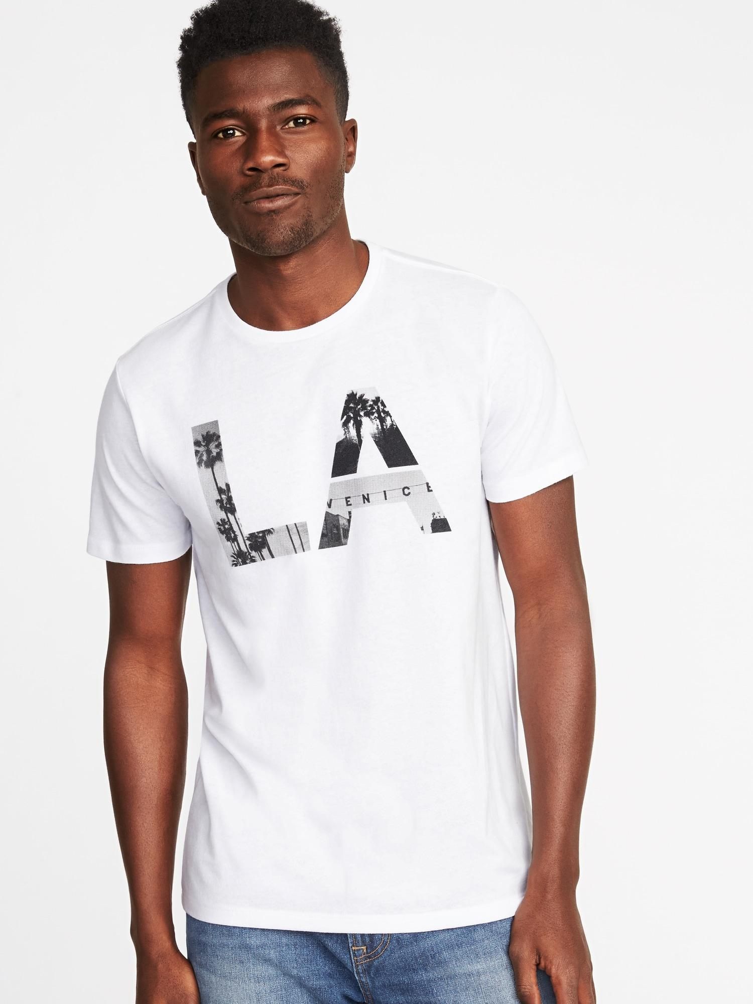 ce6282ca Old Navy Los Angeles Graphic Tee in White for Men - Lyst
