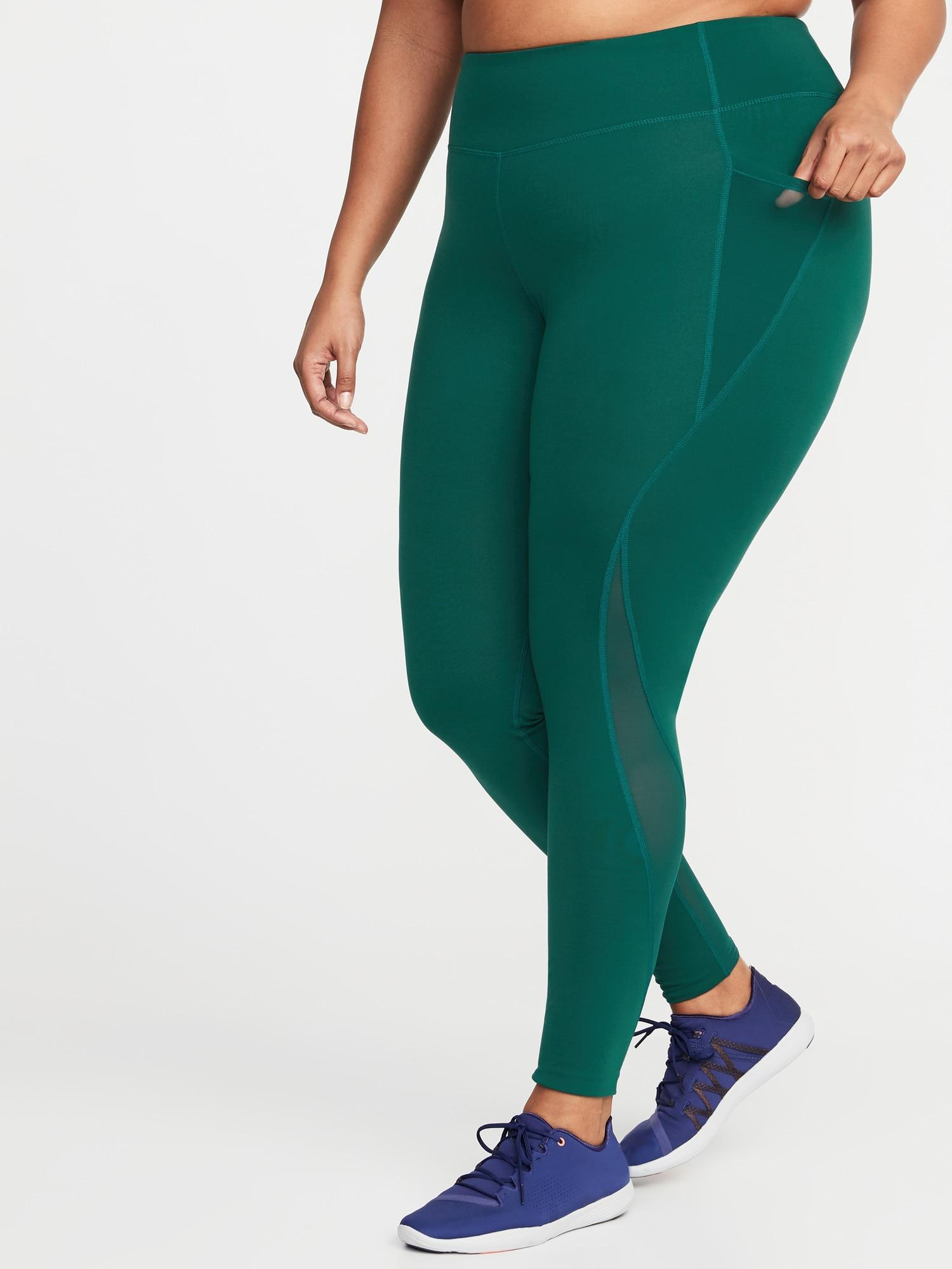 97b4de0d6a3db Lyst - Old Navy High-rise Elevate Side-pocket Compression Plus-size ...