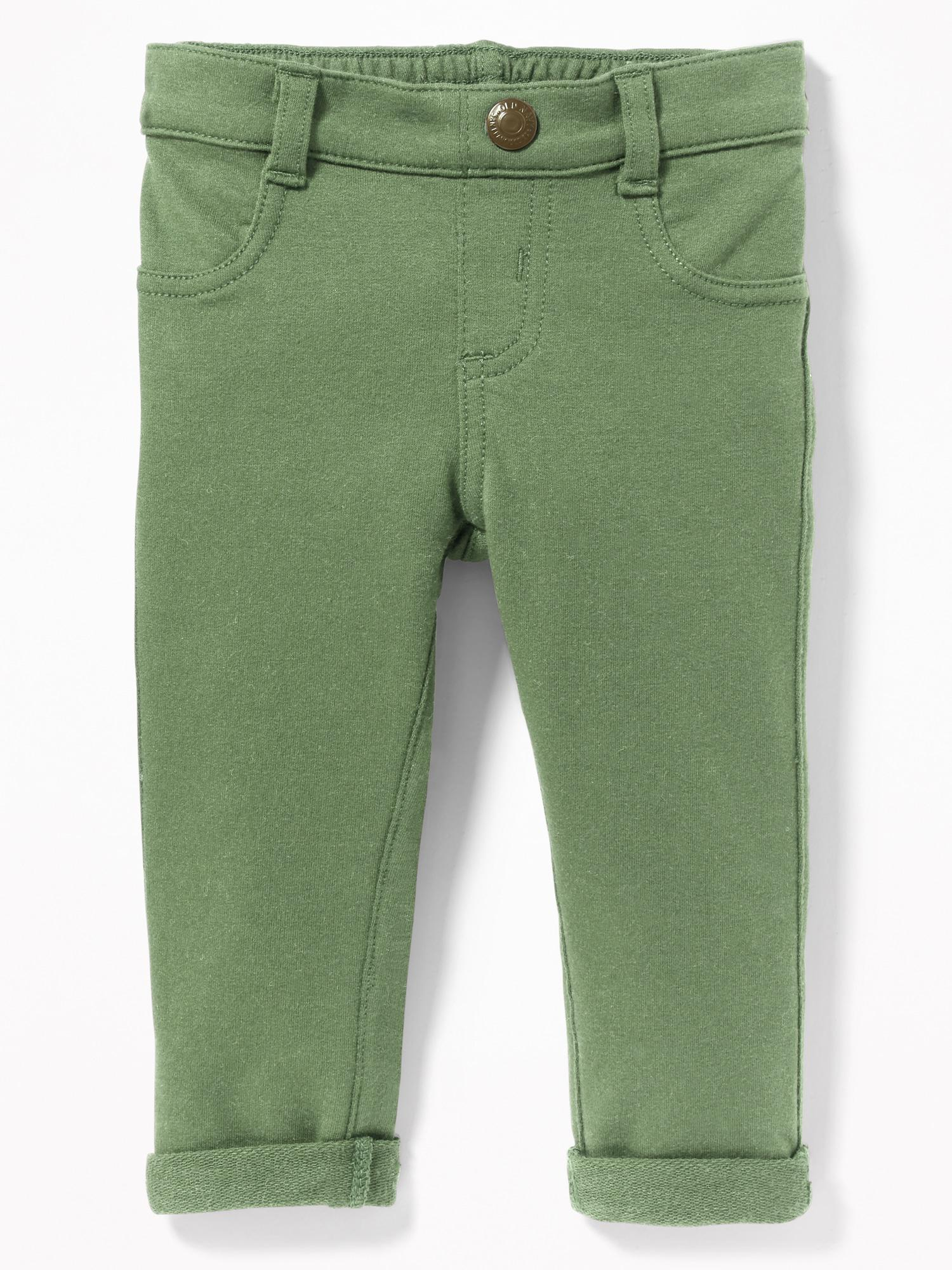 6823c53fad6d7 Lyst - Old Navy French-terry Rolled-cuff Jeggings in Green