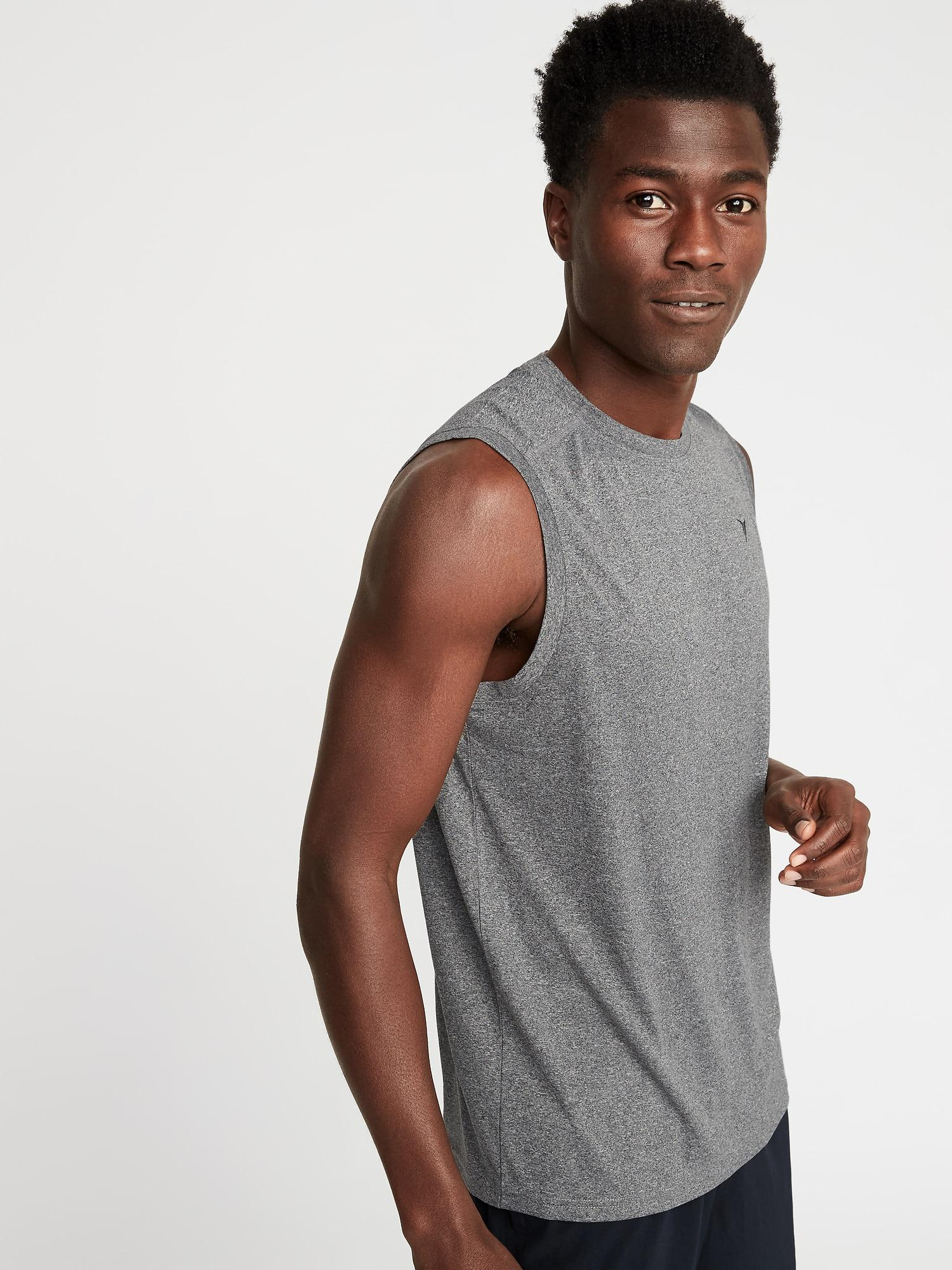 473abe37953b3 Lyst - Old Navy Go-dry Eco Muscle Tank in Gray for Men
