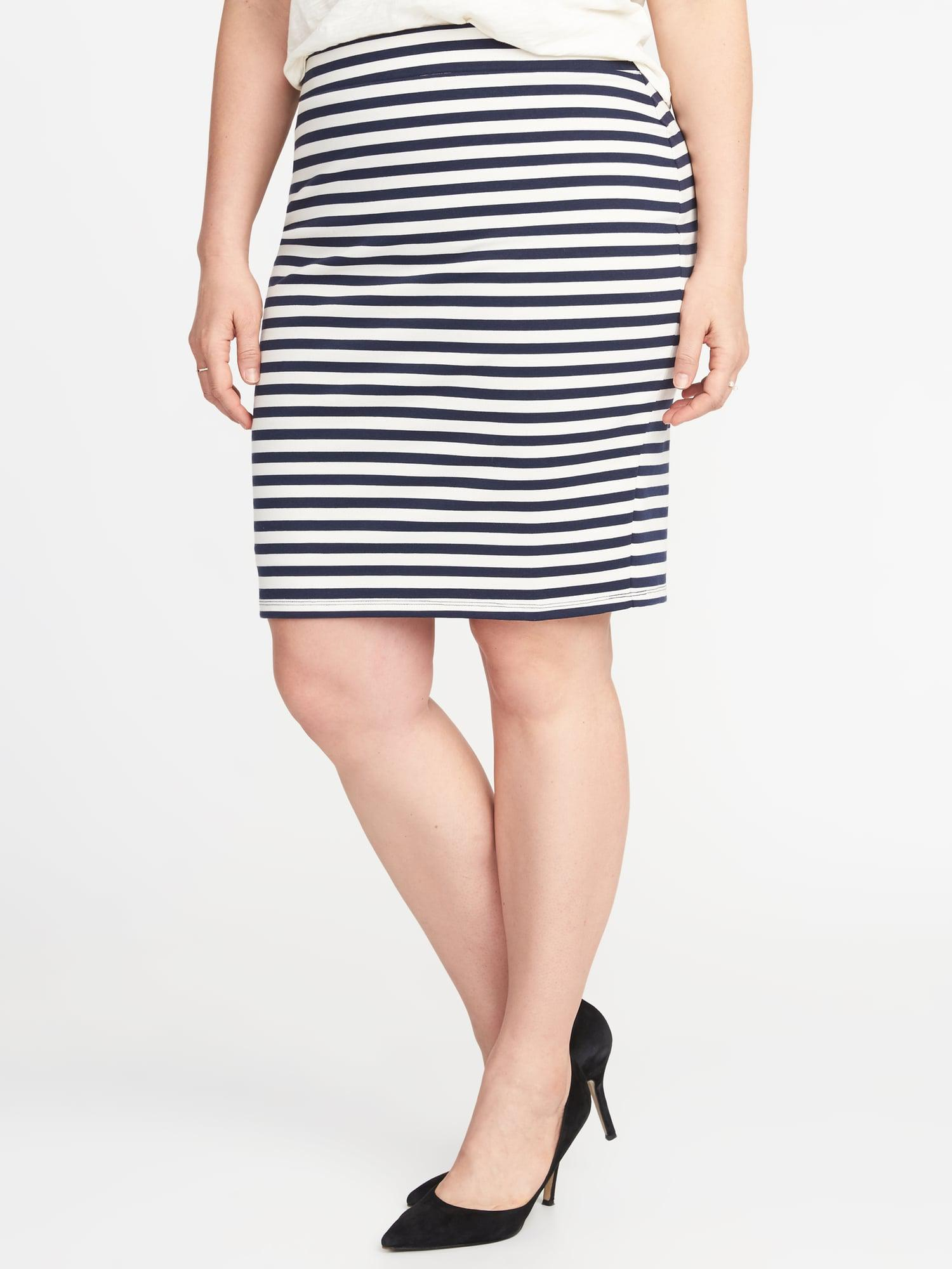 3c9e2fc3c Old Navy Secret-slim Ponte-knit Plus-size Pencil Skirt in Blue - Lyst