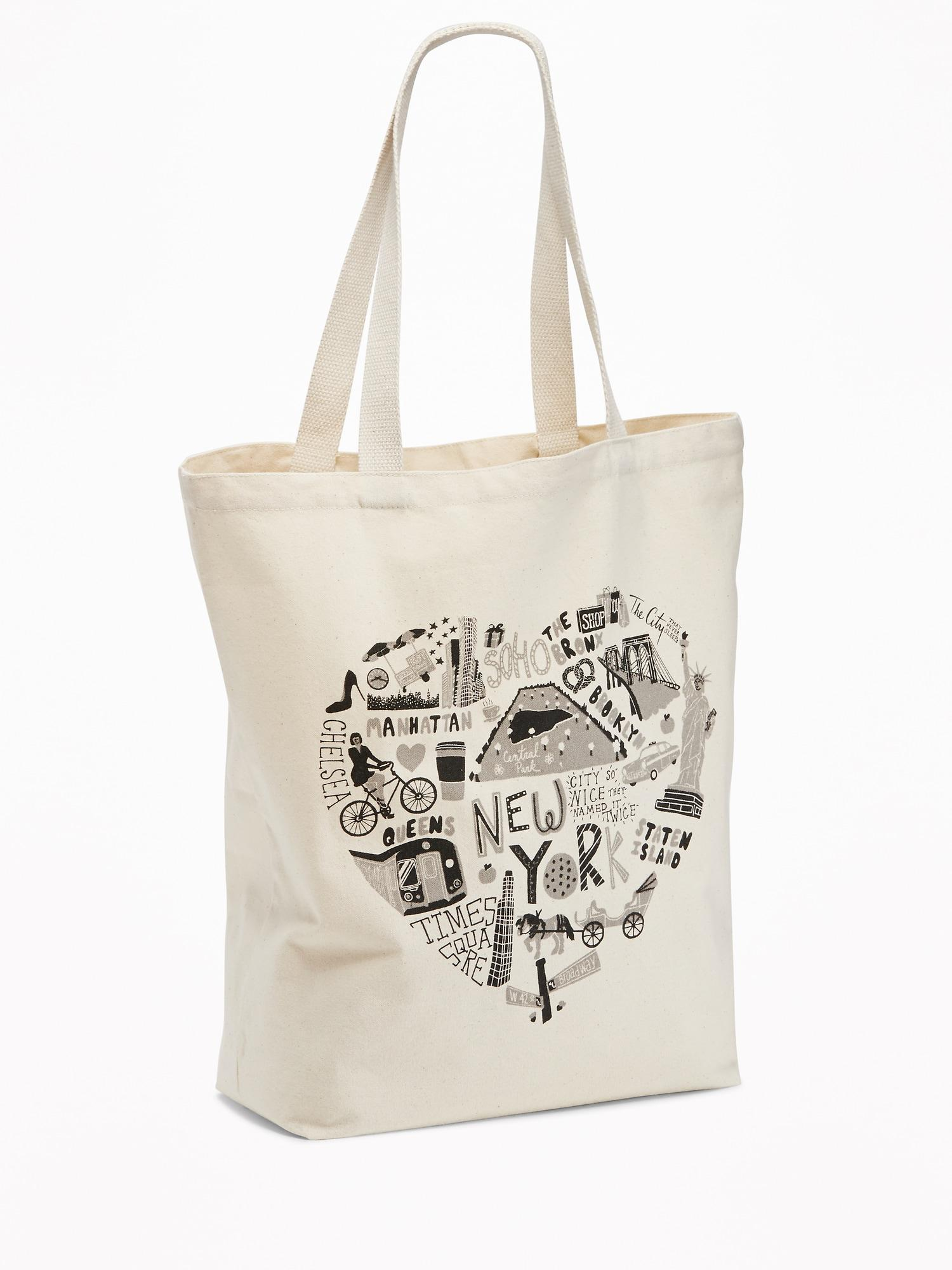 Old Navy New York Graphic Canvas Tote