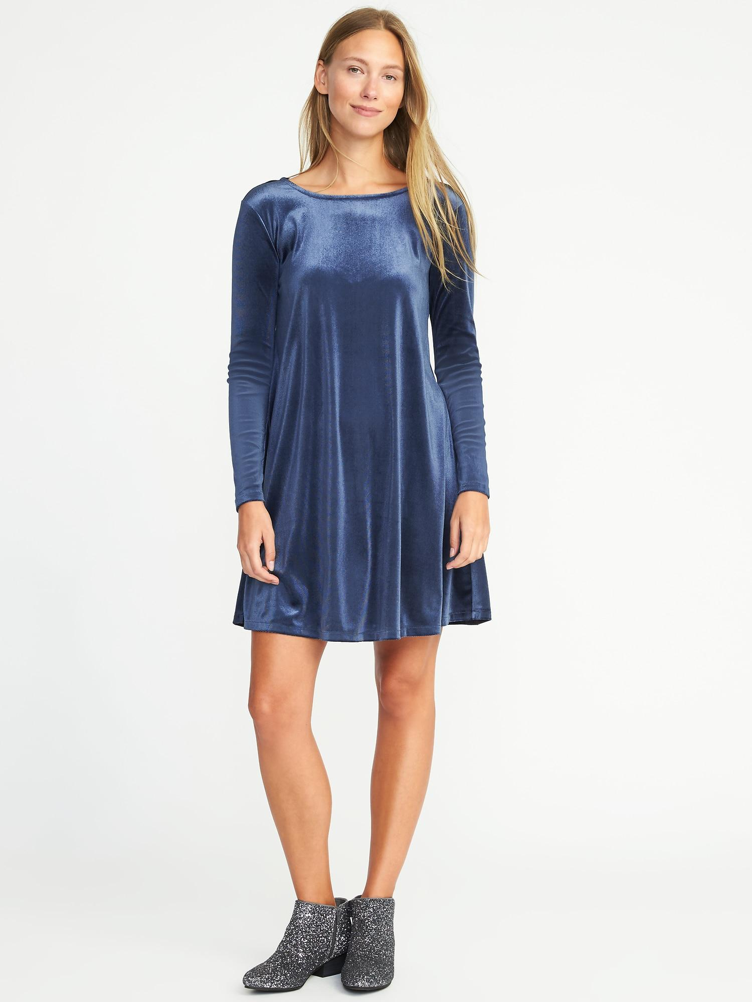 17dc0730d5c Gallery. Previously sold at  Old Navy · Women s Navy Dresses Women s Swing  Dresses Women s Velvet ...