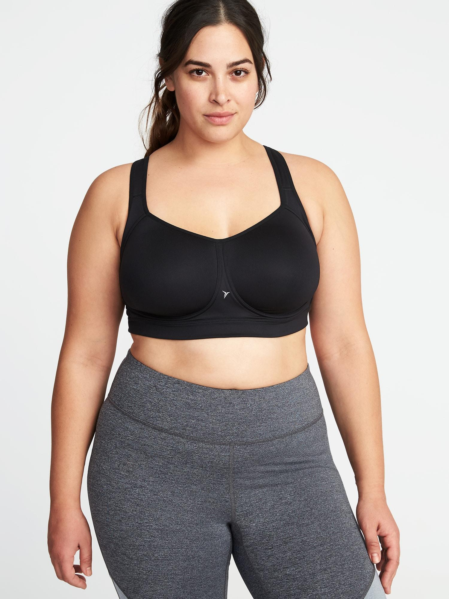 5d5abf843e7 Lyst - Old Navy High-support Plus-size Mesh-racerback Sports Bra in ...
