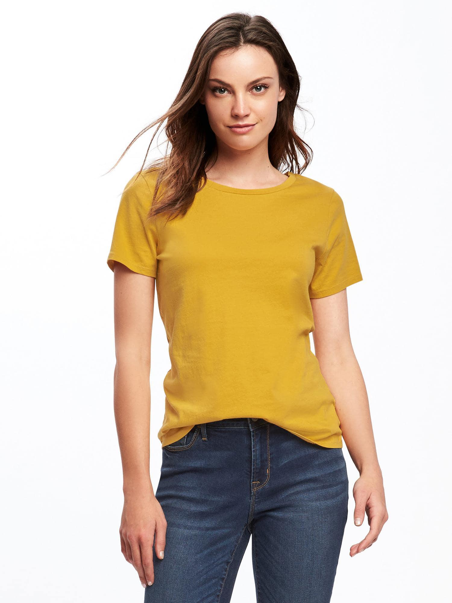 ada86847e Lyst - Old Navy Everywear Crew-neck Tee in Yellow