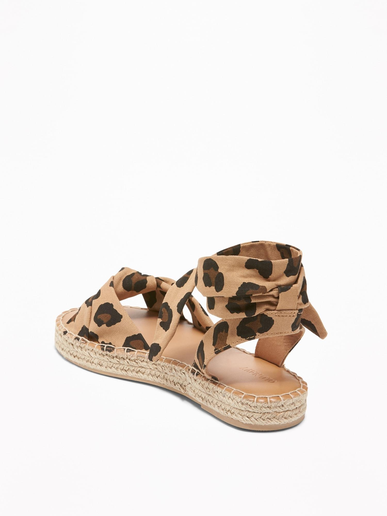 Old Navy Lace-up Leopard-print
