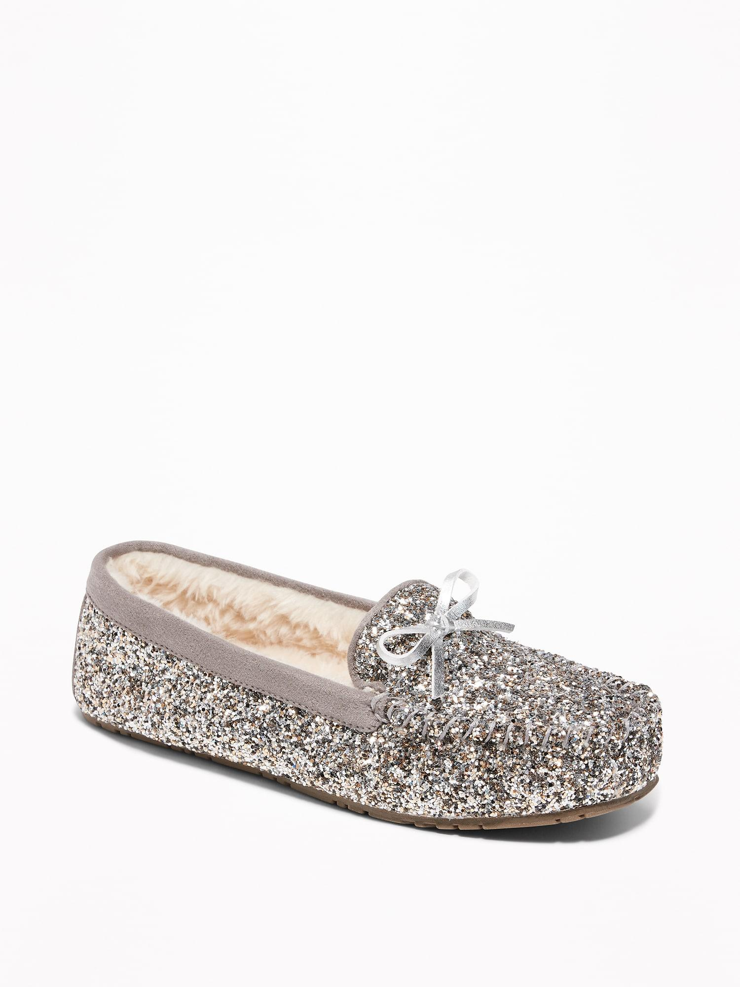 Old Navy Glitter Sherpa-lined Moccasin