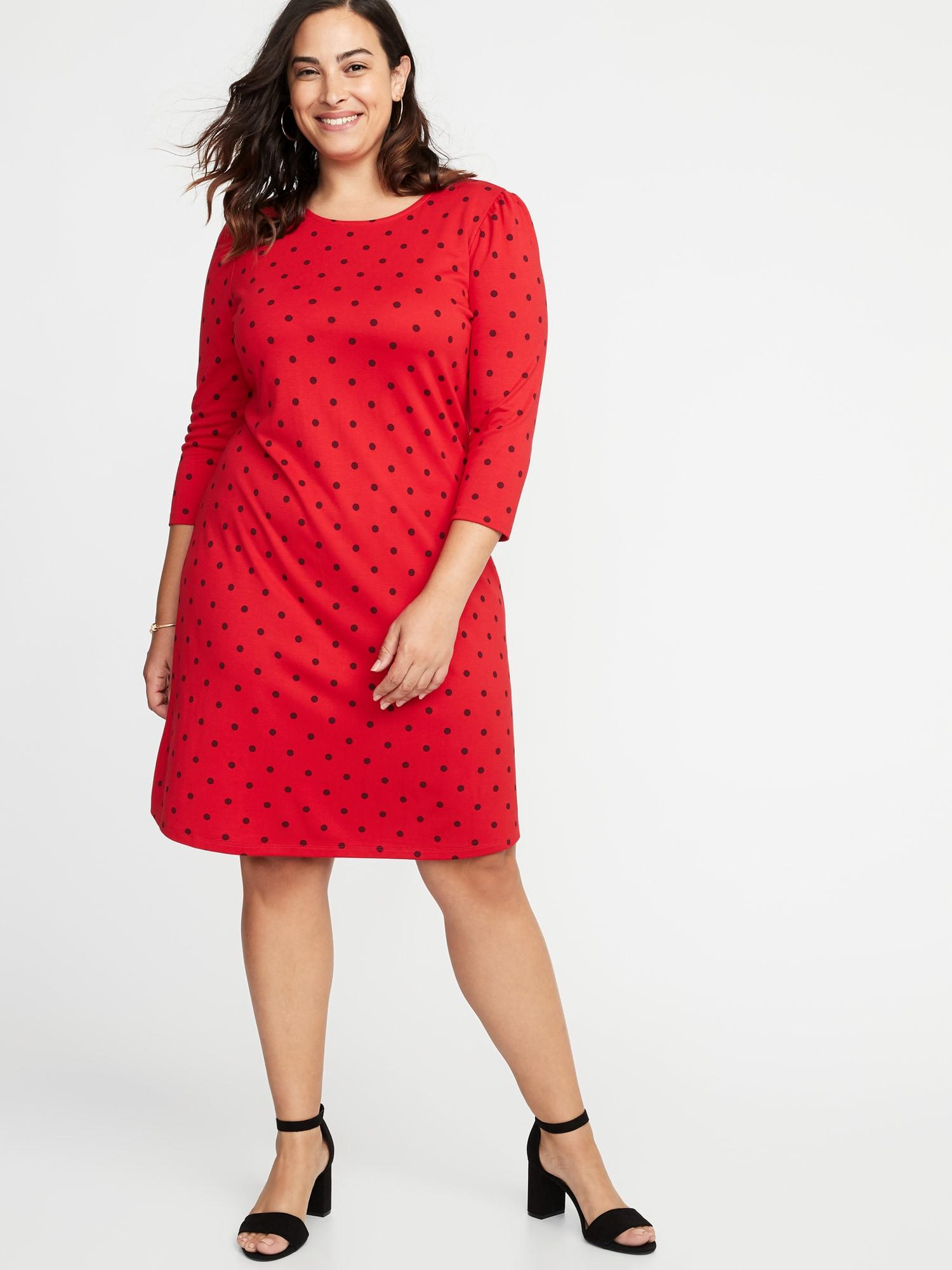 Old Navy Red Plus-size Ponte-knit Shift Dress