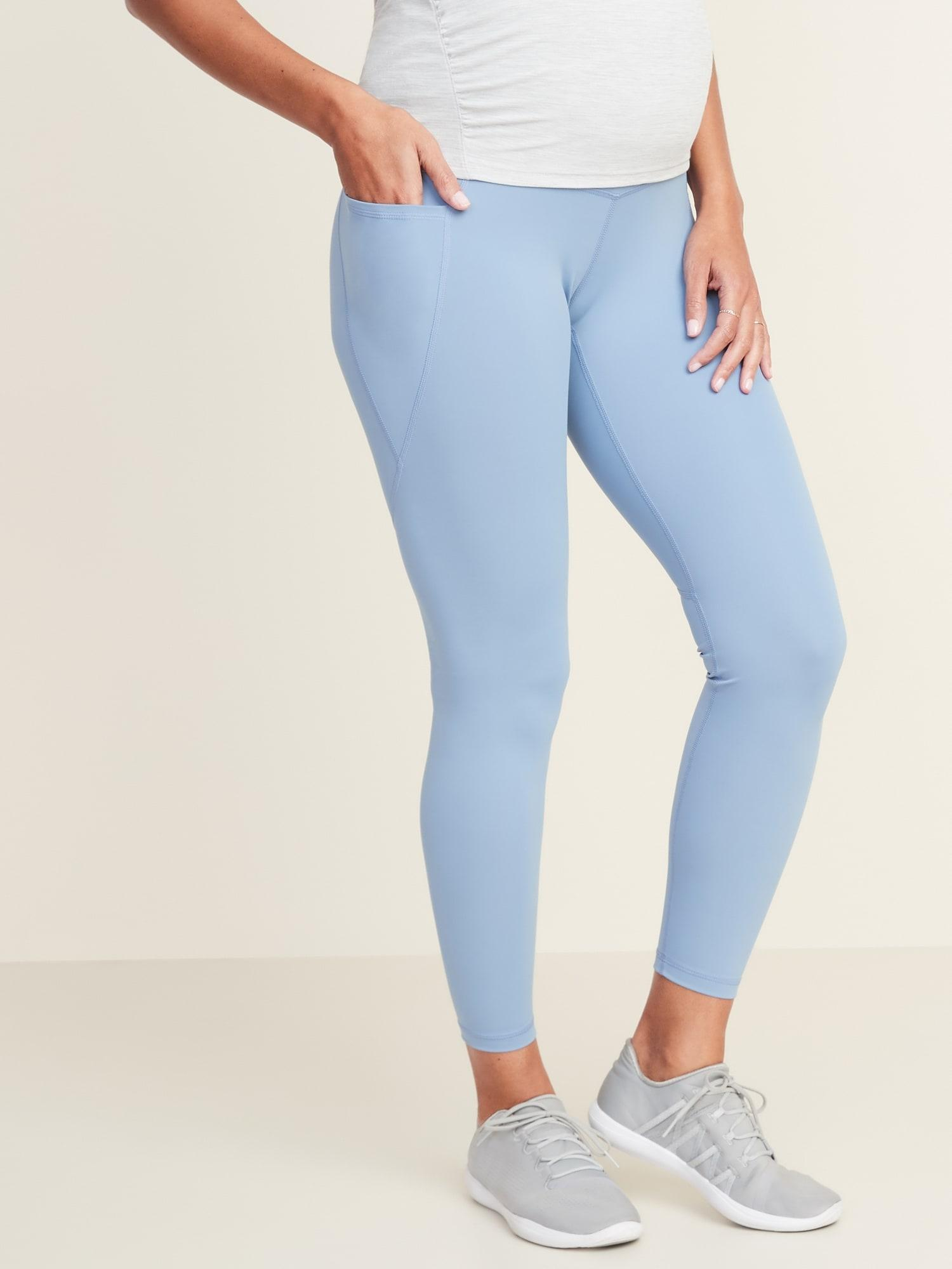 Old Navy Synthetic Maternity Full Panel Elevate 7 8 Length Side Pocket Powersoft Leggings In Blue Save 50 Lyst