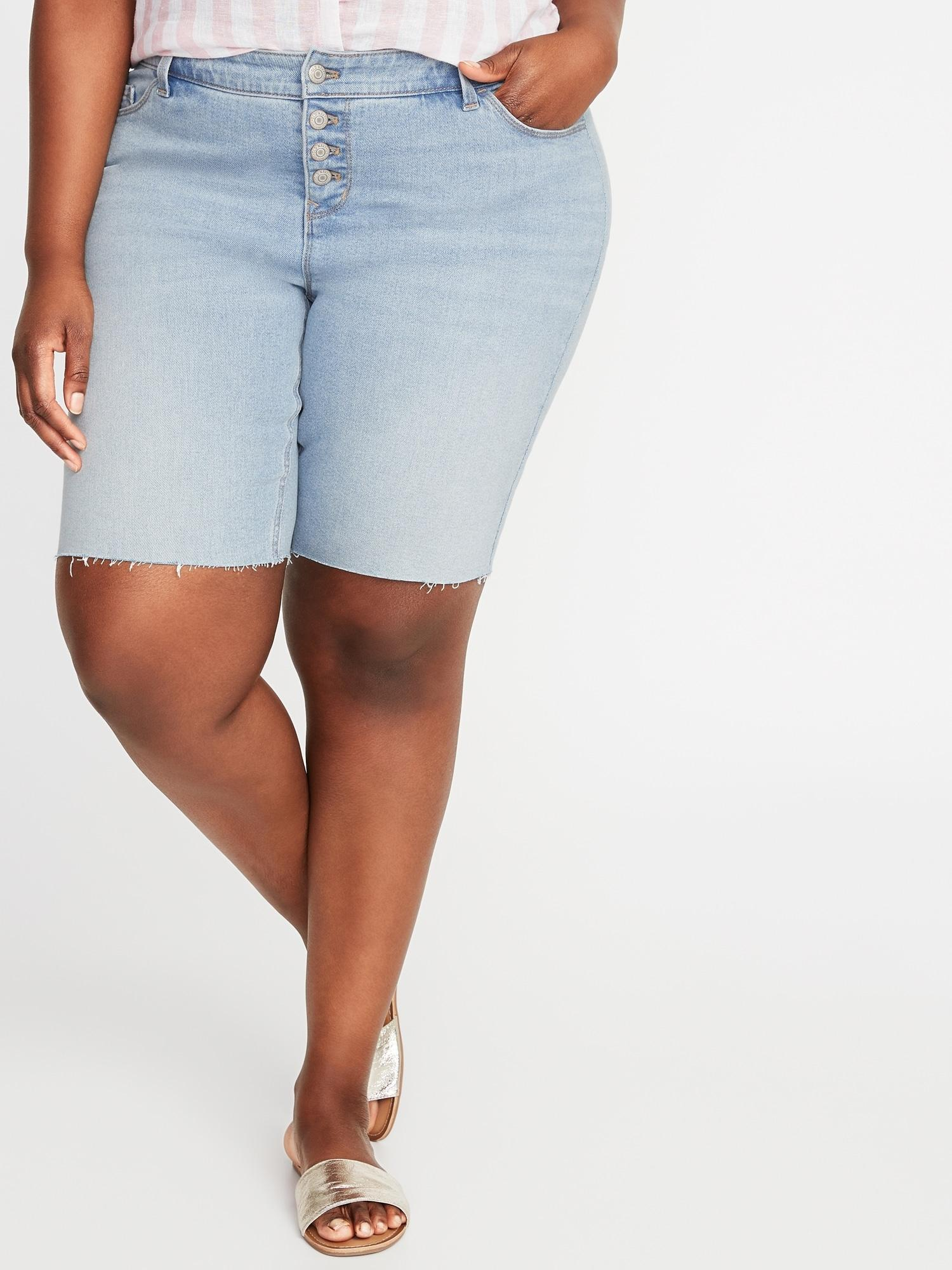 1091e8bc6b Lyst - Old Navy Mid-rise Secret-slim Pockets Button-fly Plus-size ...