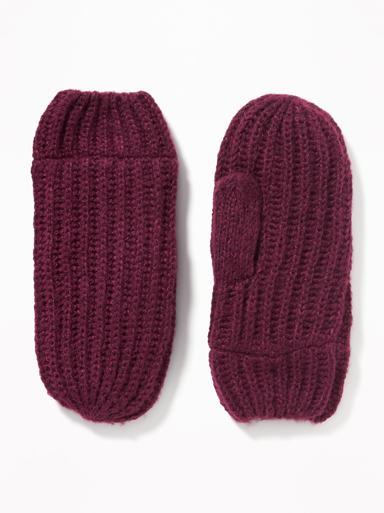 32c4f7167 Lyst - Old Navy Rib-knit Mittens in Purple