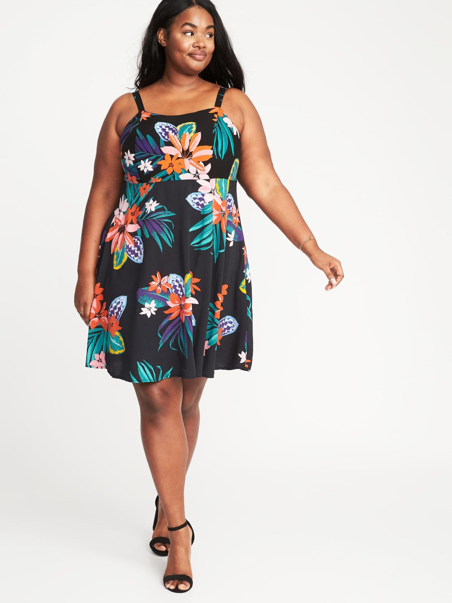1620a9203ff Old Navy Plus-size Fit   Flare Cami Dress in Black - Lyst