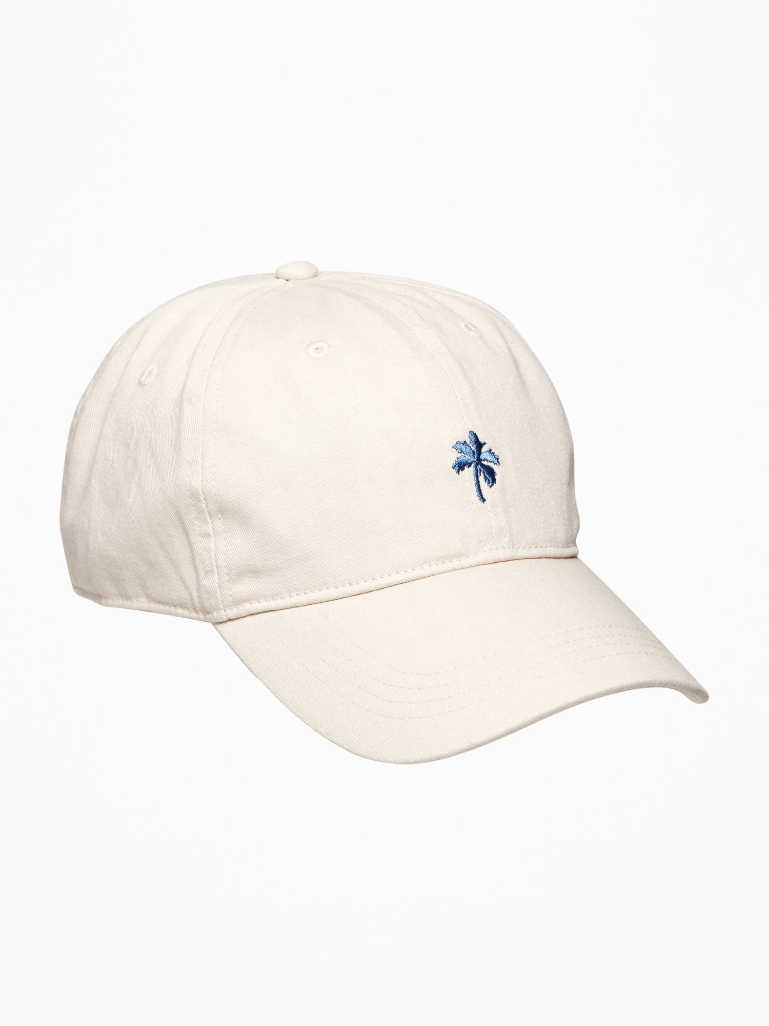 dcd6b0dcf8b Lyst - Old Navy Embroidered Graphic Twill Baseball Cap in White for Men