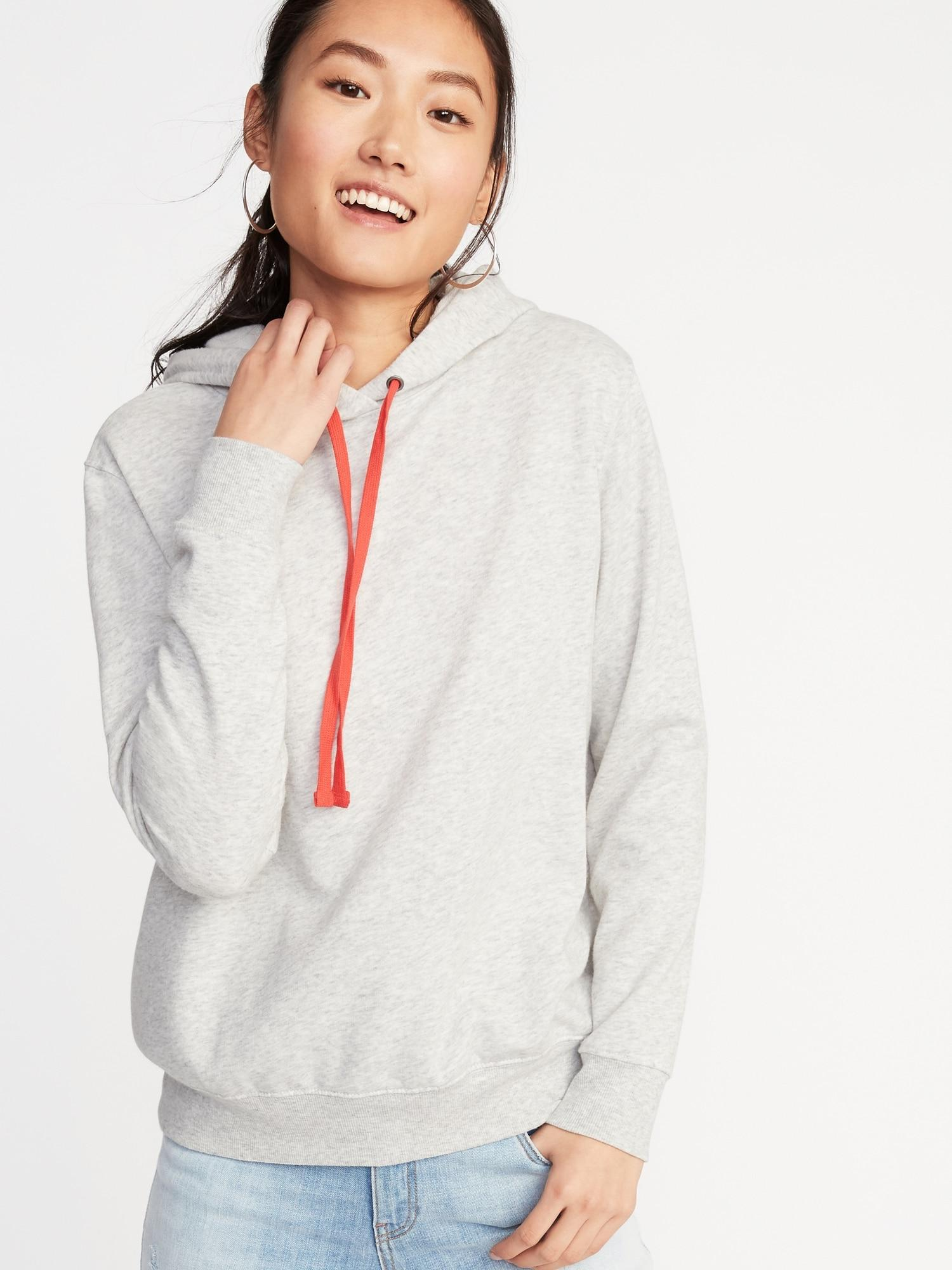 Old Navy French Terry Pullover Hoodie In Light Heather Gray Gray Lyst
