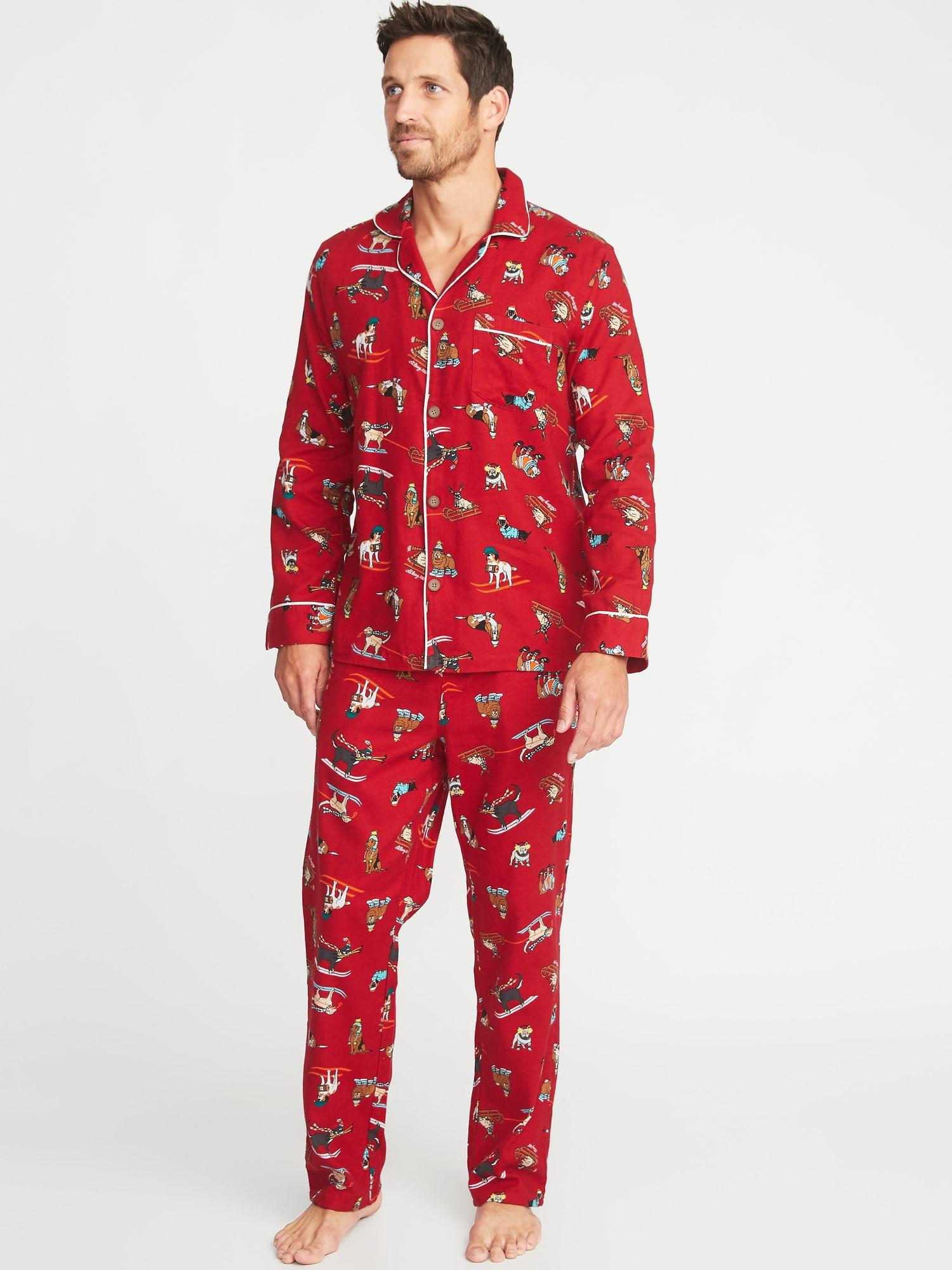 7edb3a76ff Lyst - Old Navy Patterned Flannel Pajama Set in Red for Men - Save 51%
