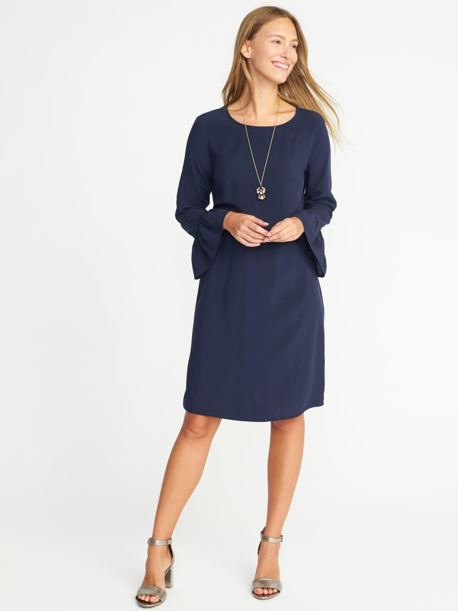 77891bb7709d Lyst - Old Navy Ruffle-sleeve Shift Dress in Blue