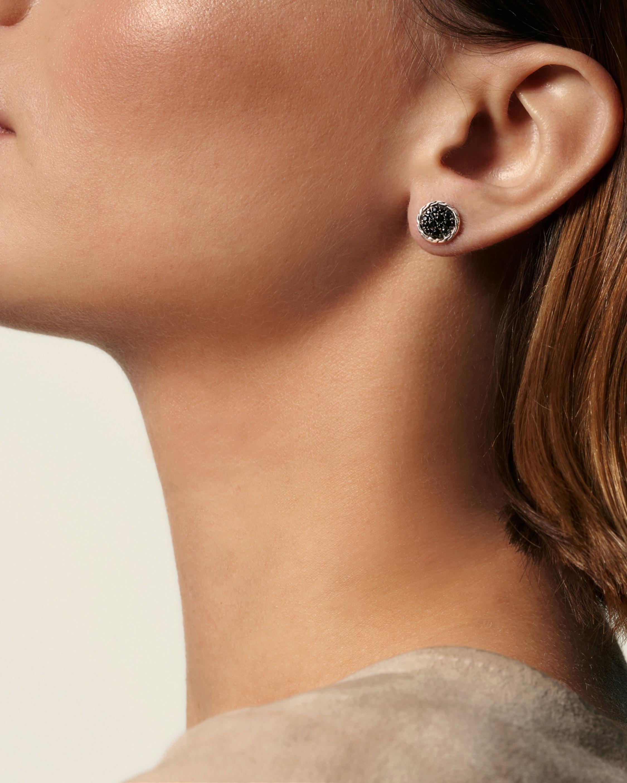 34b48756516a9 Lyst - John Hardy Classic Chain Silver Round Stud Earrings in Metallic