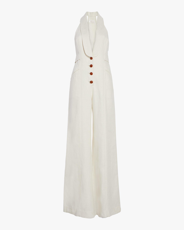 19454bebd9d Lyst - Zimmermann Corsage Tailored Jumpsuit in White