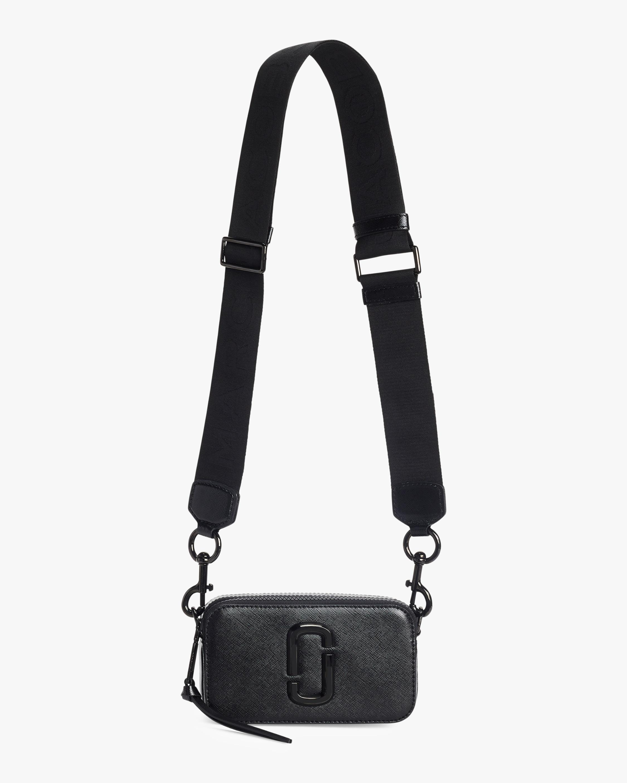 Lyst - Marc Jacobs Snapshot Leather Shoulder Bag in Black - Save 9% 4933914176aef