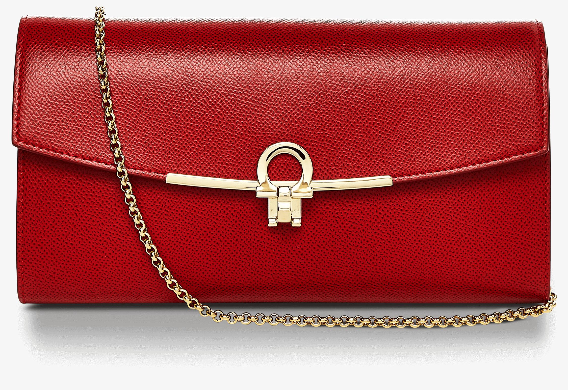 d66ec3db8a Lyst - Ferragamo Mini Gancini Bag in Red