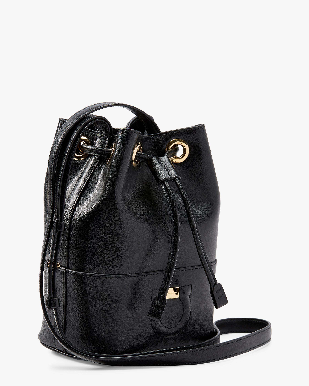 108390271fb8 Lyst - Ferragamo Piccolo City Bucket Bag in Black