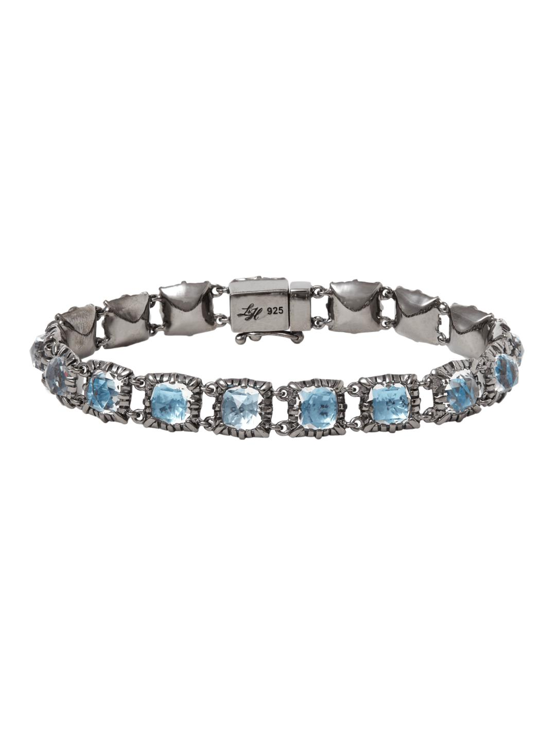 Larkspur & Hawk Small Bella Jeu de Paume Bracelet in White Foil