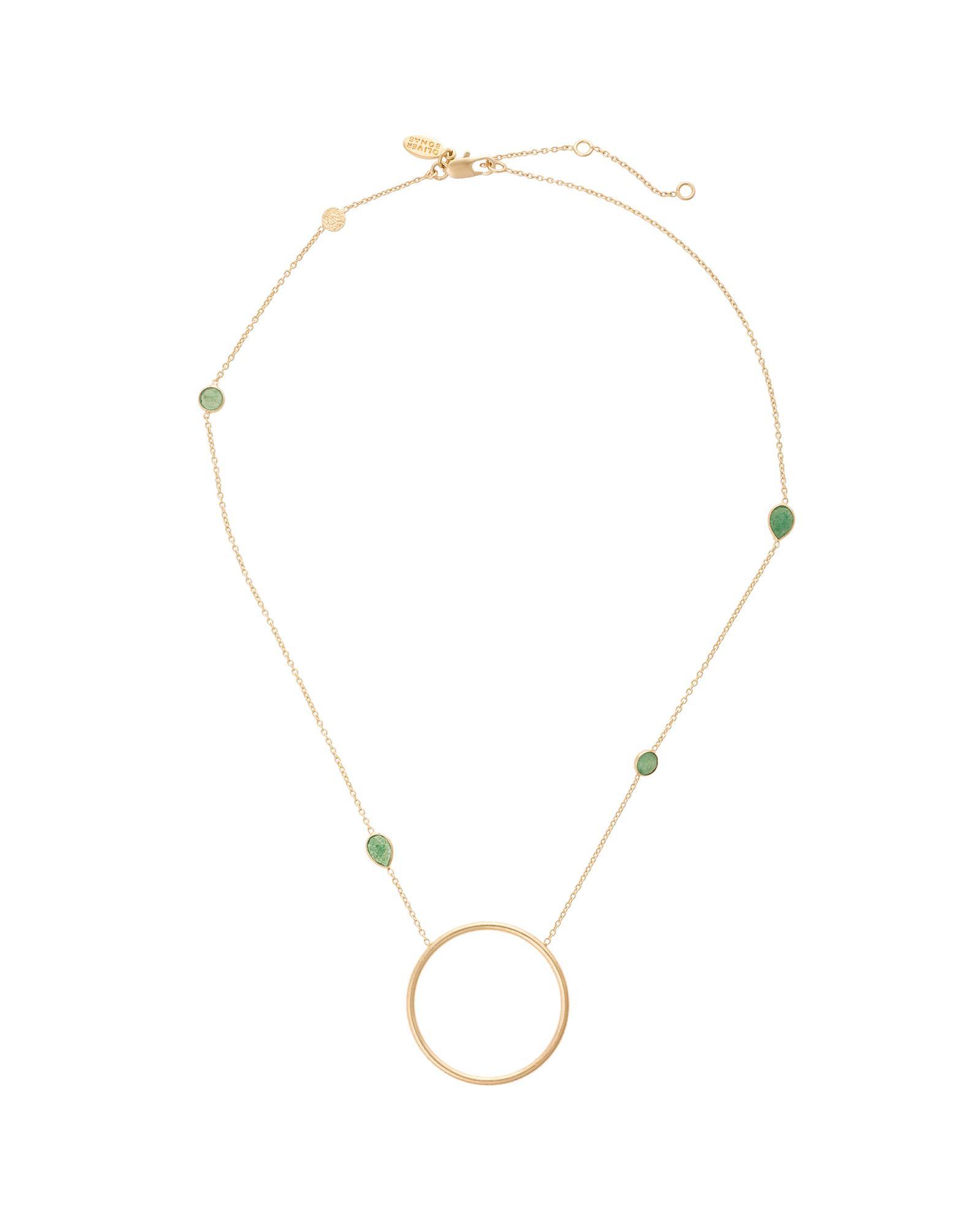 Oliver Bonas Tinde Large Circle Gold Plated Necklace in Metallic