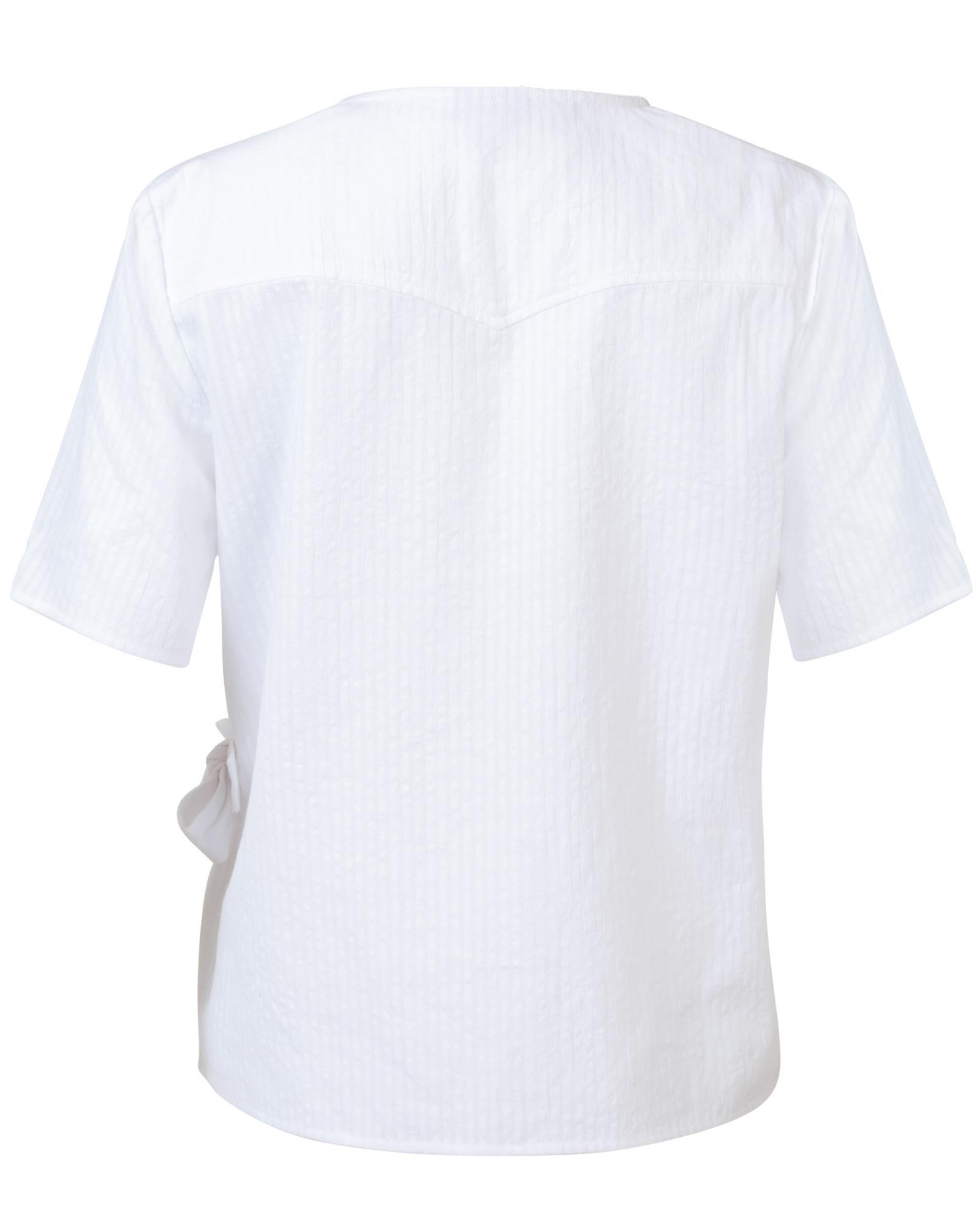 6f73bdd2884fb2 Lyst - Oliver Bonas Wanderlust White Cotton Wrap Top in White