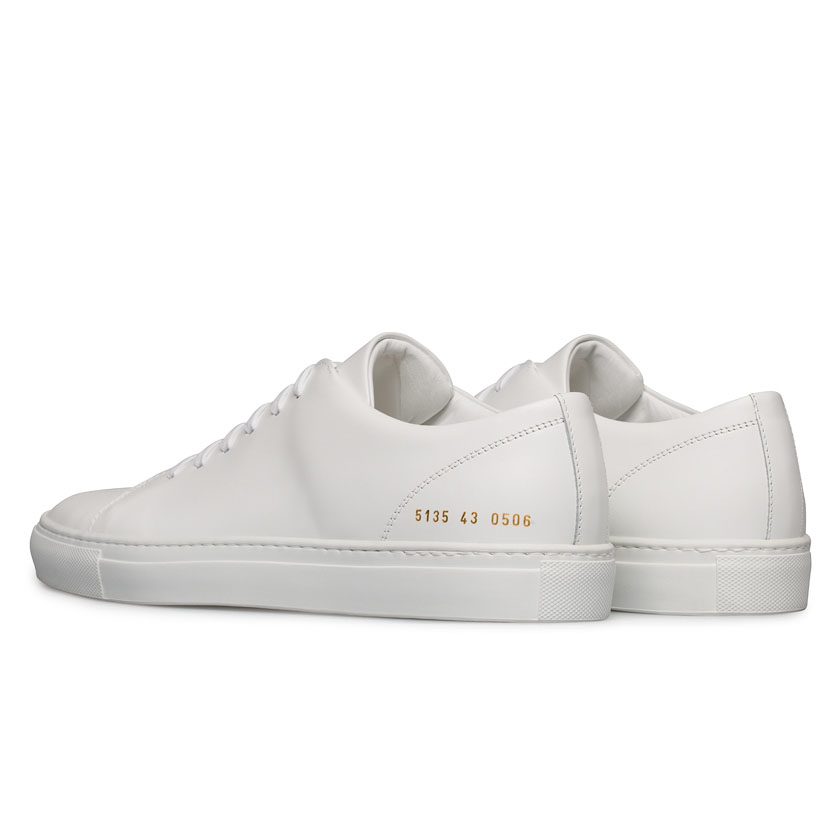 common projects white boxed leather new court low sneakers for men lyst. Black Bedroom Furniture Sets. Home Design Ideas