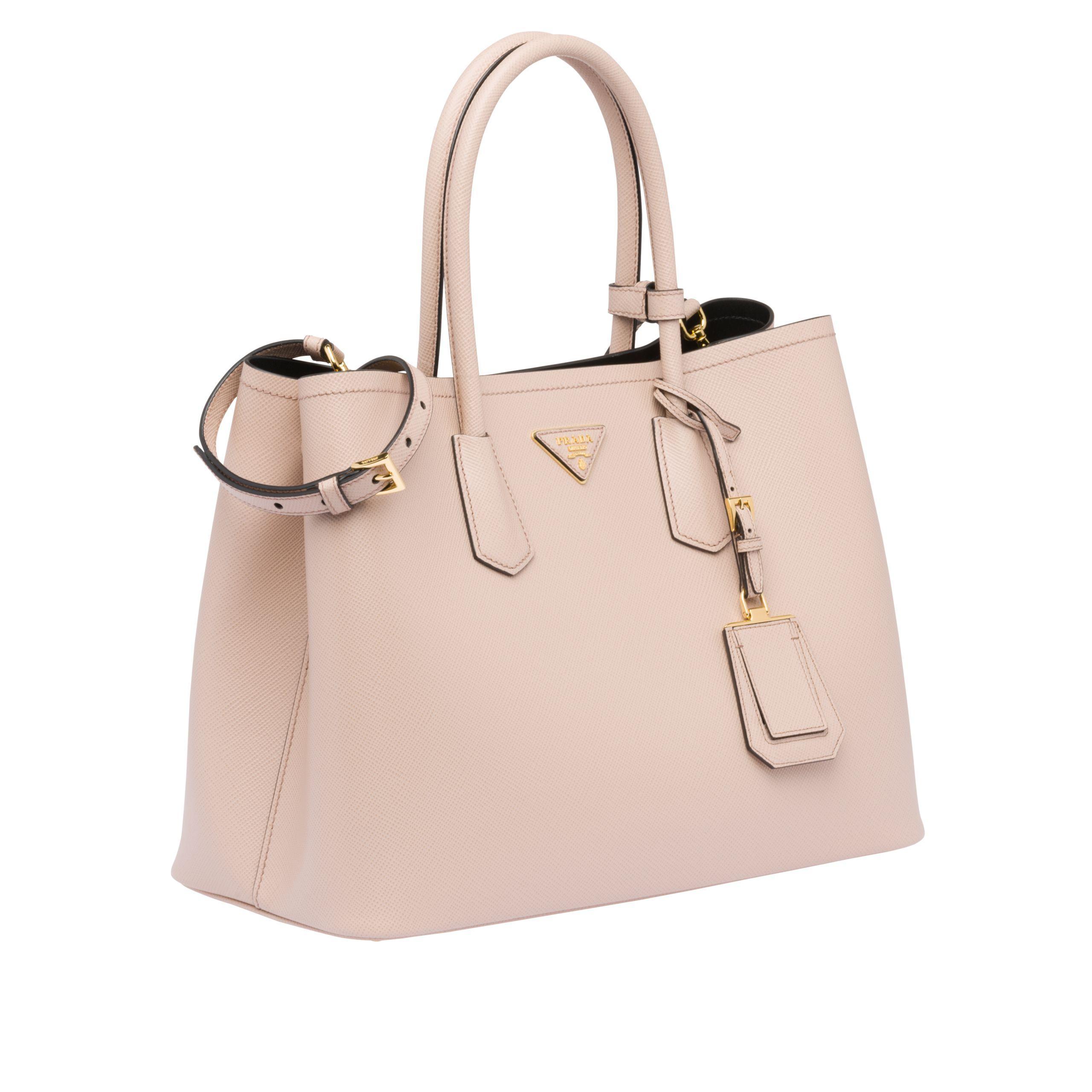 420e8a846eab Prada - Natural Double Bag Large - Lyst. View fullscreen