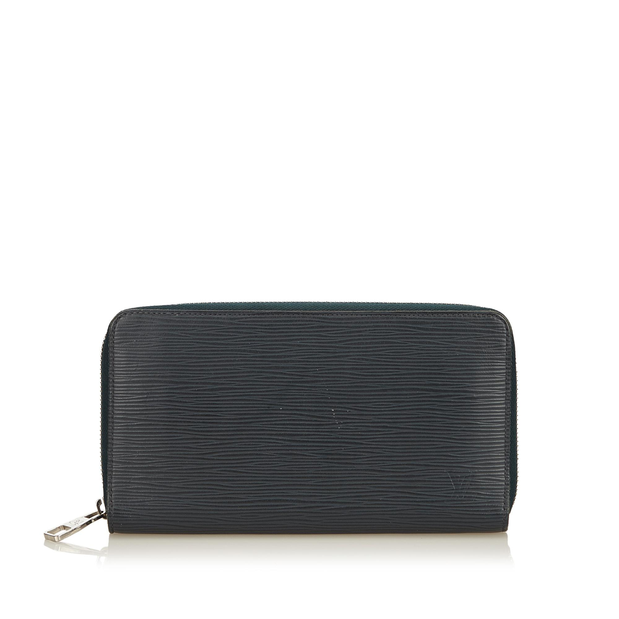 Lyst - Louis Vuitton Epi Zippy Wallet in Black 2959fc7c50e