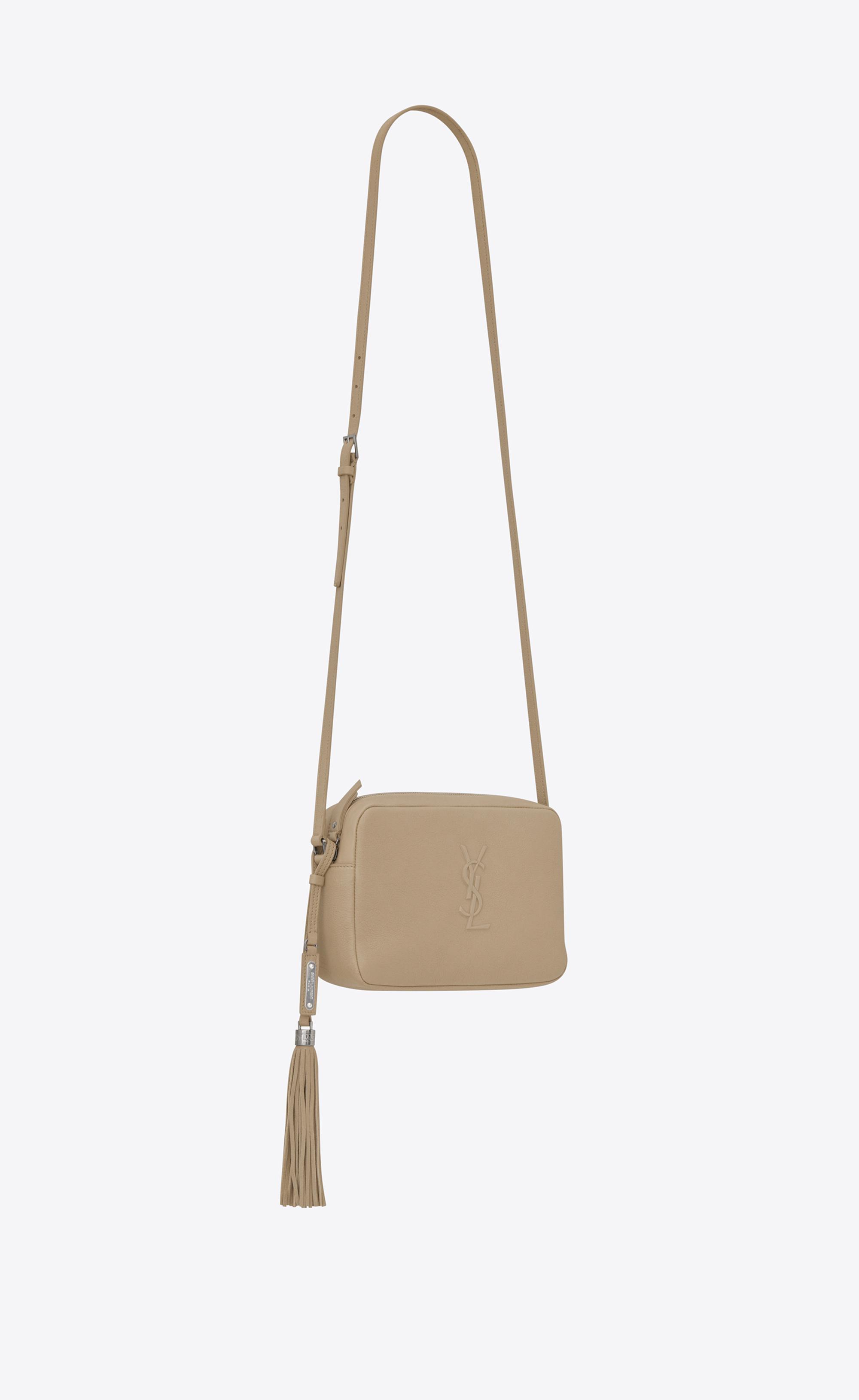 f2f76750b66 Saint Laurent Small Lou Camera Bag In Dark Beige Leather in Natural ...