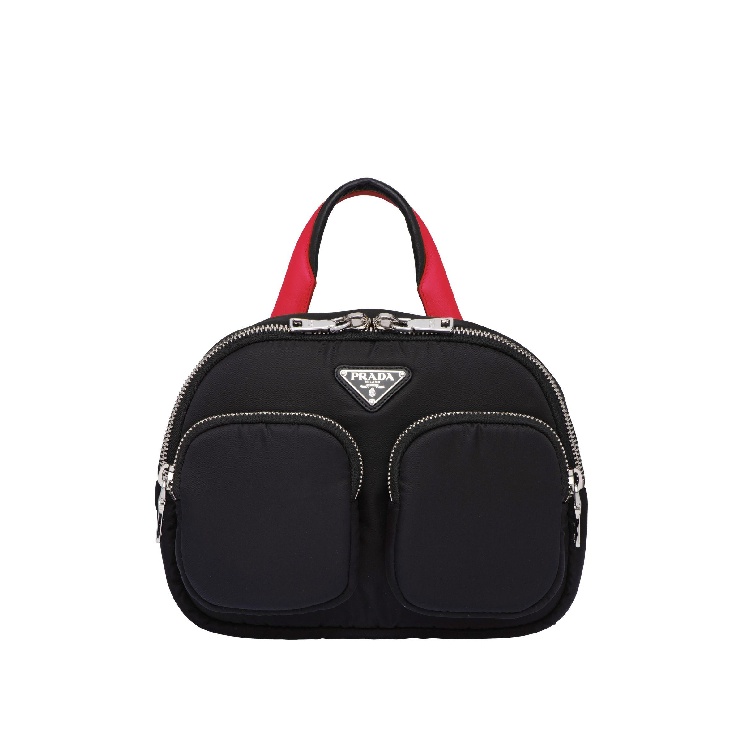 3cce8531d4a2 Prada - Black Padded Nylon Backpack - Lyst. View fullscreen