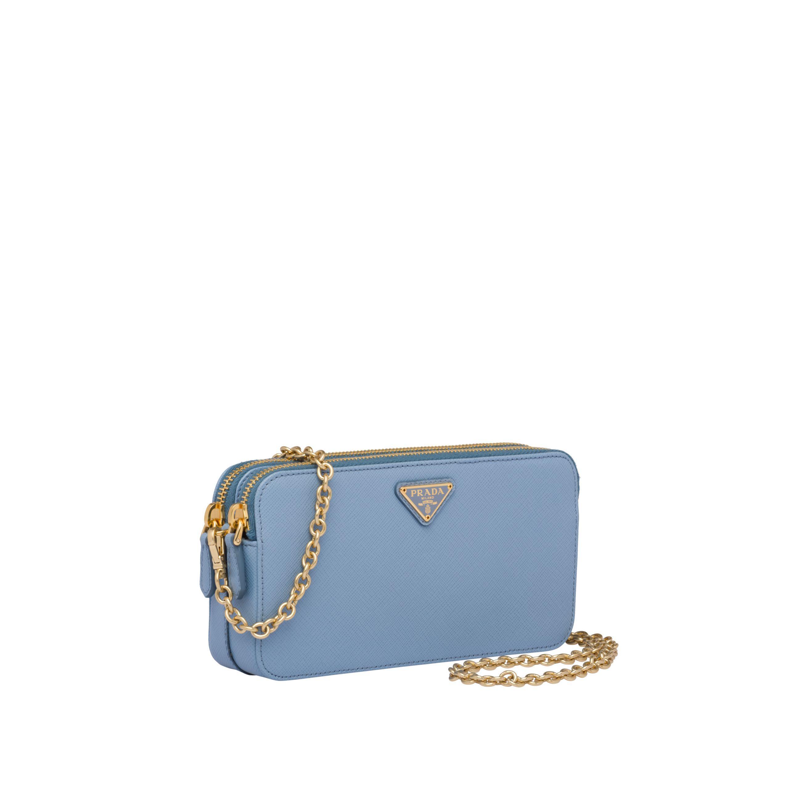 05779fb5 Women's Blue Saffiano Leather Mini Shoulder Bag