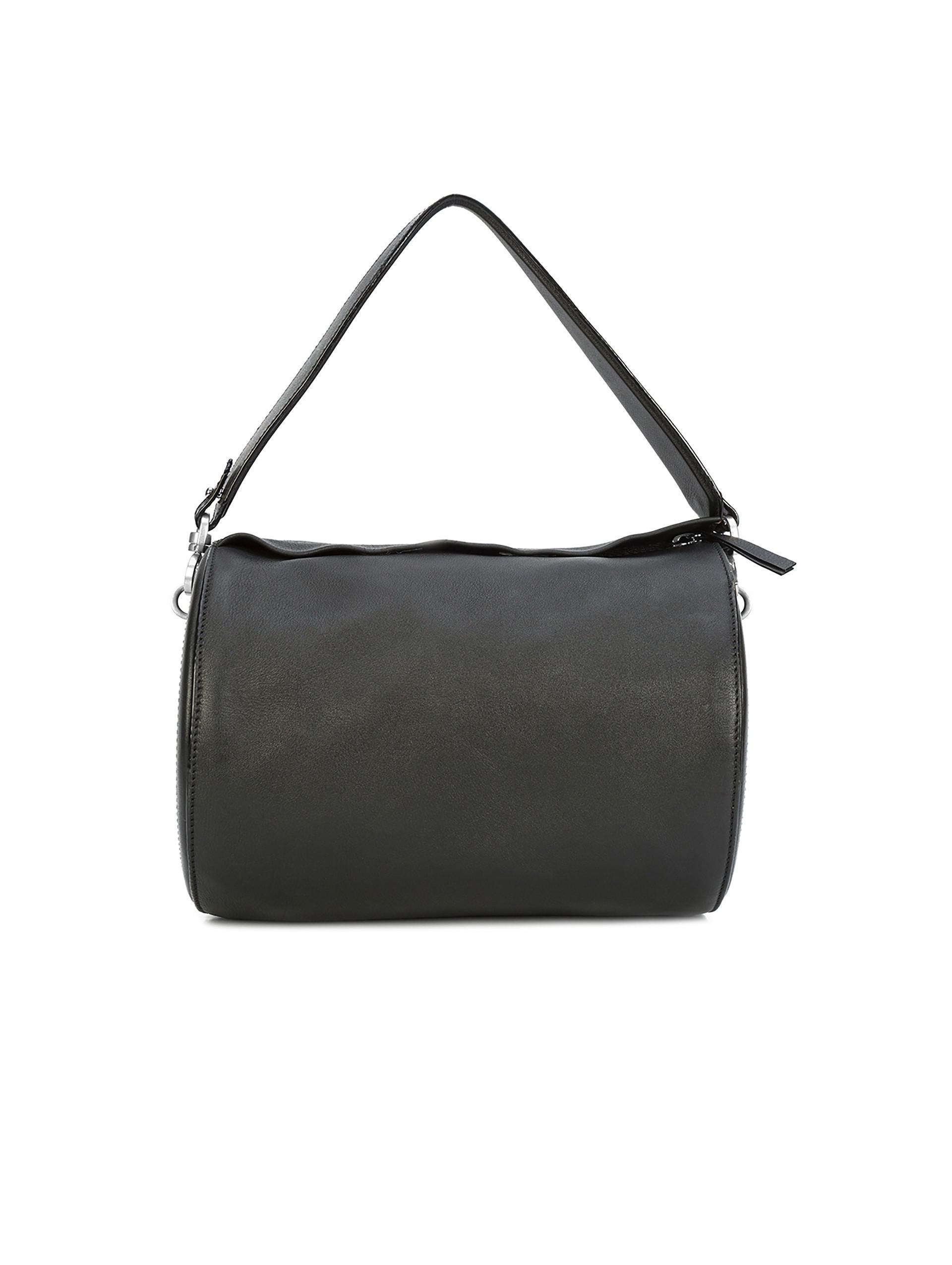 4b2a56e1c9 Lyst - Oscar De La Renta Black Leather Medium Battery Bag in Black