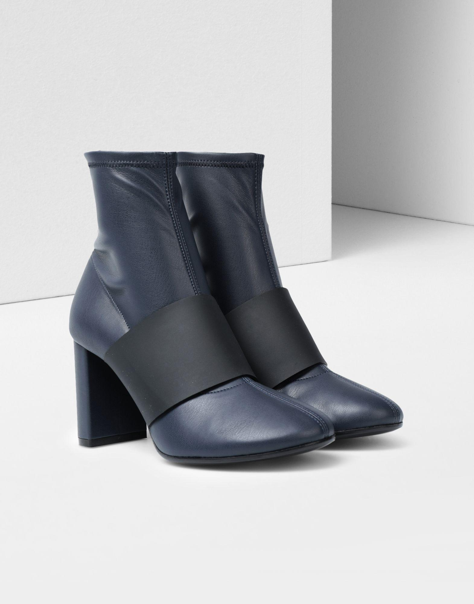 38a4add8001 Lyst - Maison Margiela Ankle Boots With Strap in Blue