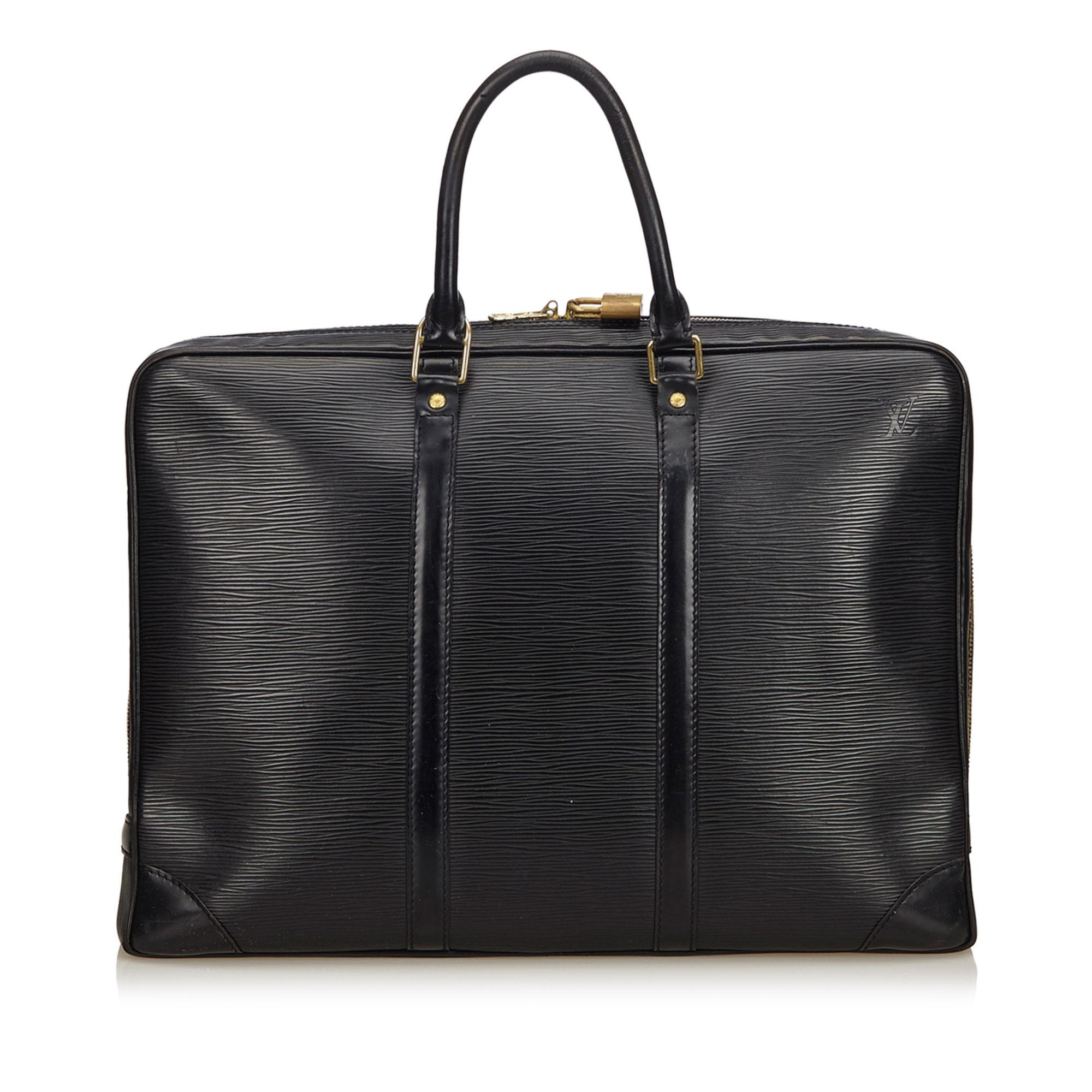 Lyst - Louis Vuitton Epi Porte Documents Voyage in Black ae85d7e6be8