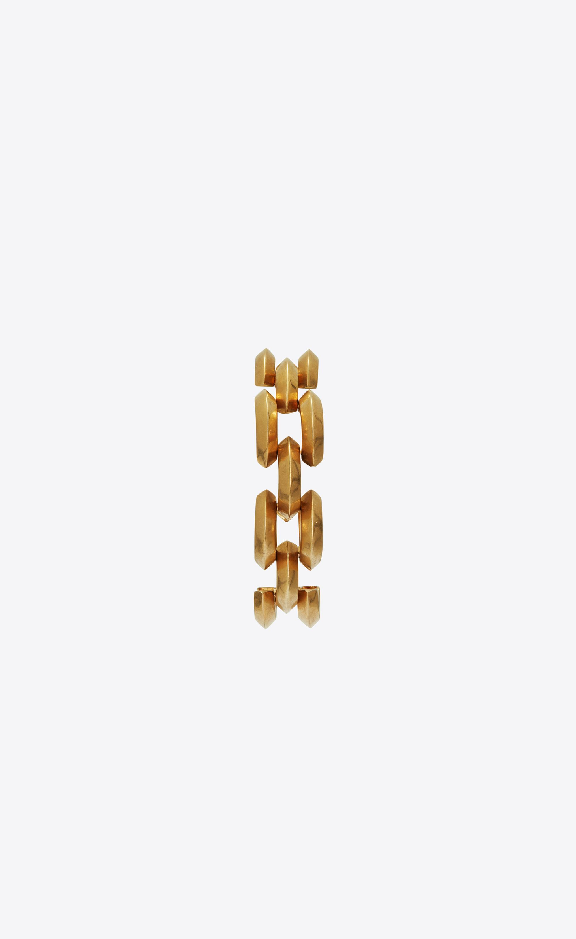 8c5e4c10de Lyst - Saint Laurent Articulated Bracelet in Metallic