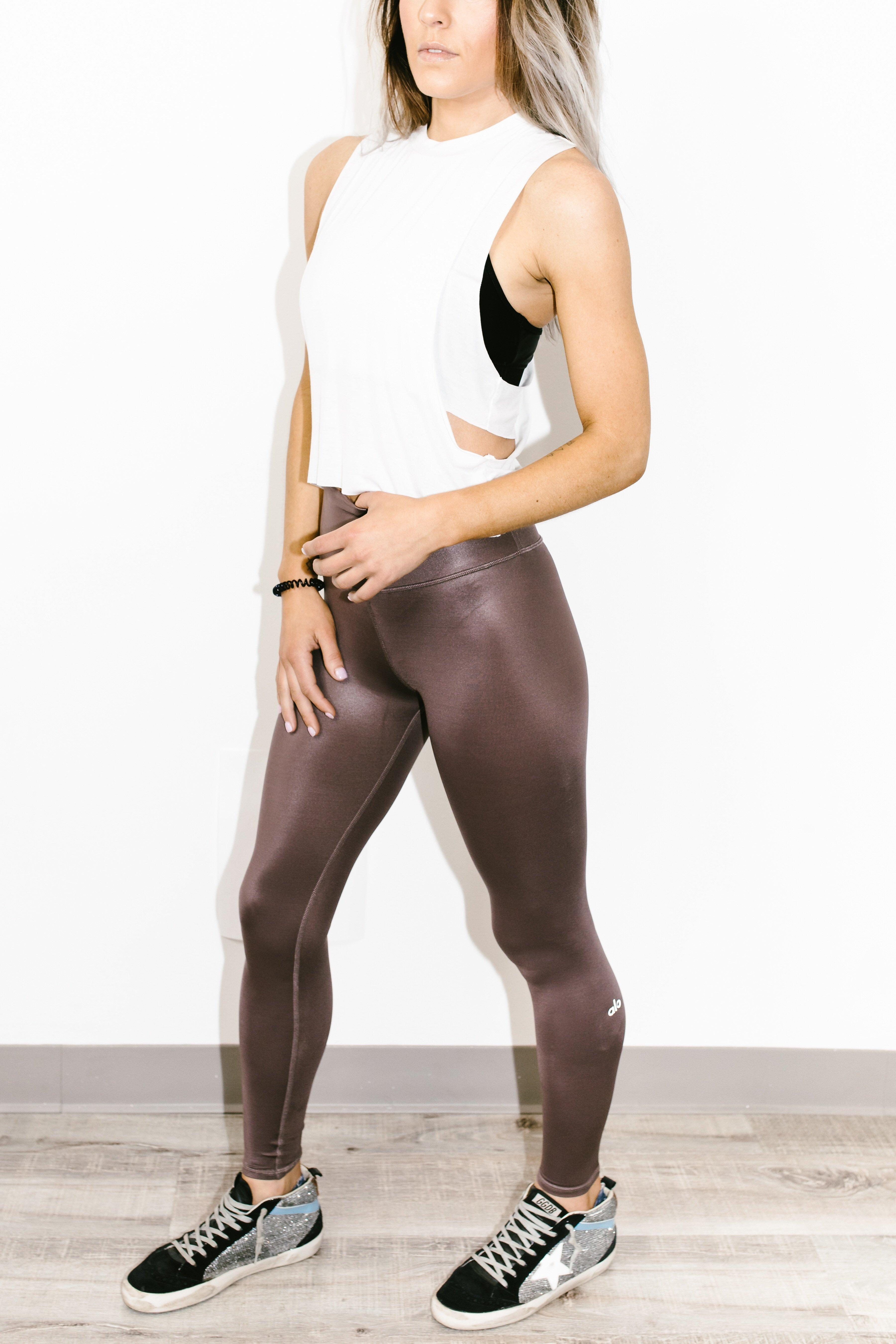 d605a43c352b1 Alo Yoga High Waist Shine Legging Coco 7/8 - Lyst