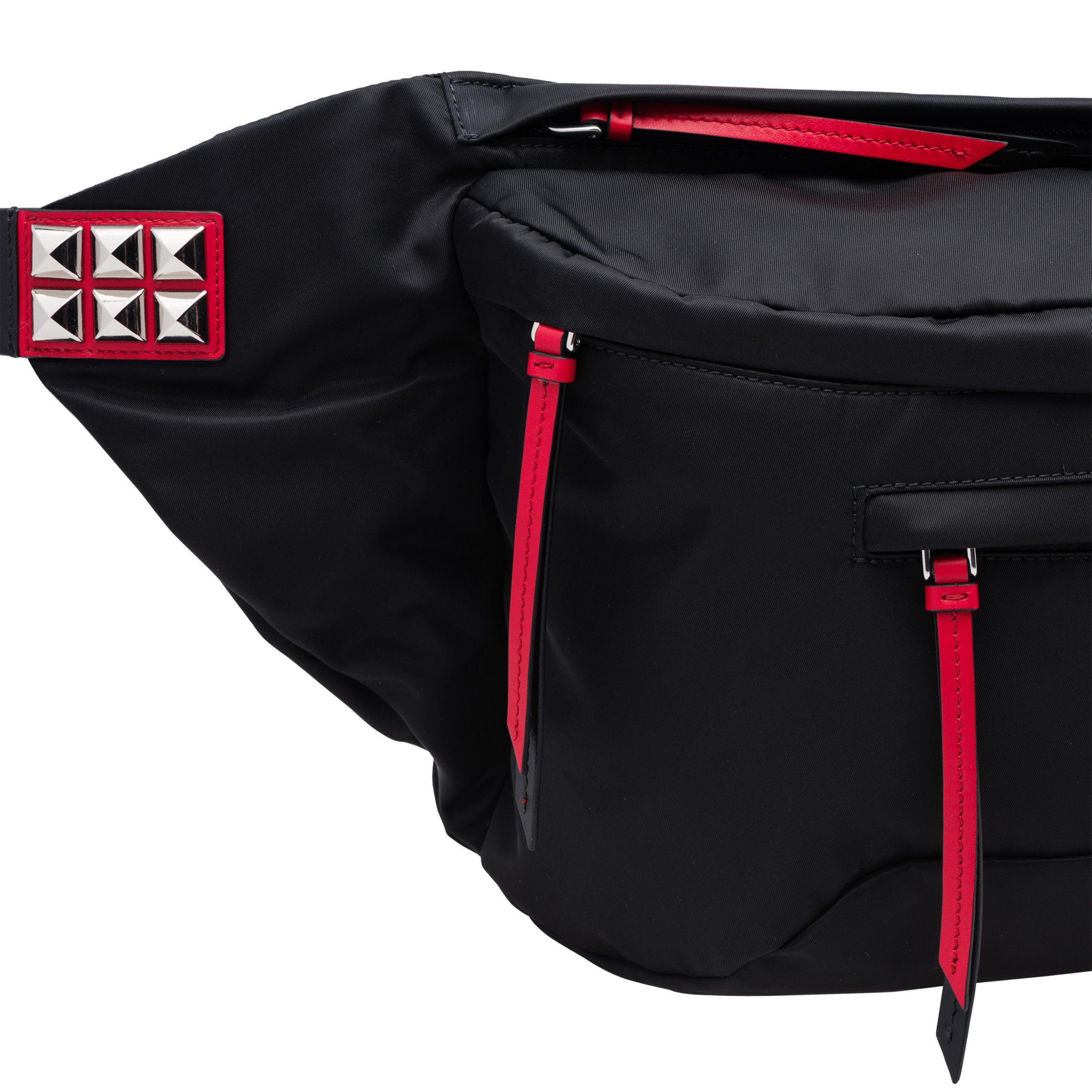 e35cef972dd5 Lyst - Prada Black Nylon Belt Bag in Black